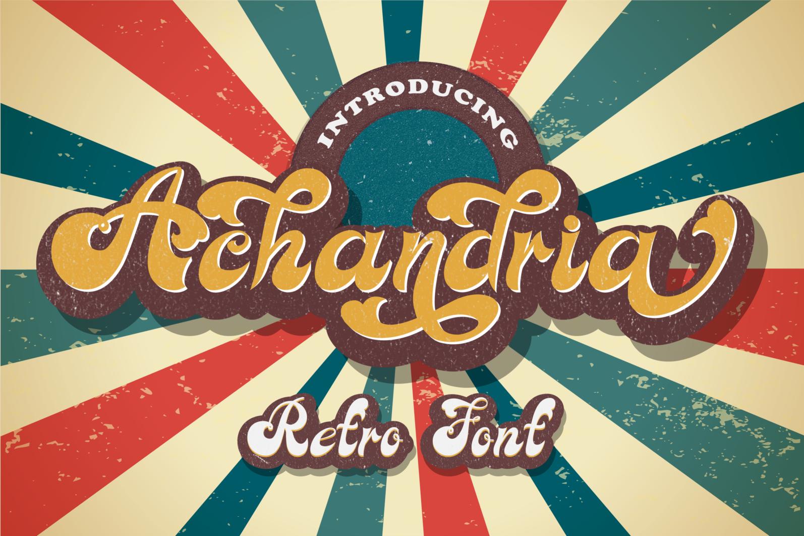 Achandria a Vintage Retro Font - 01 -