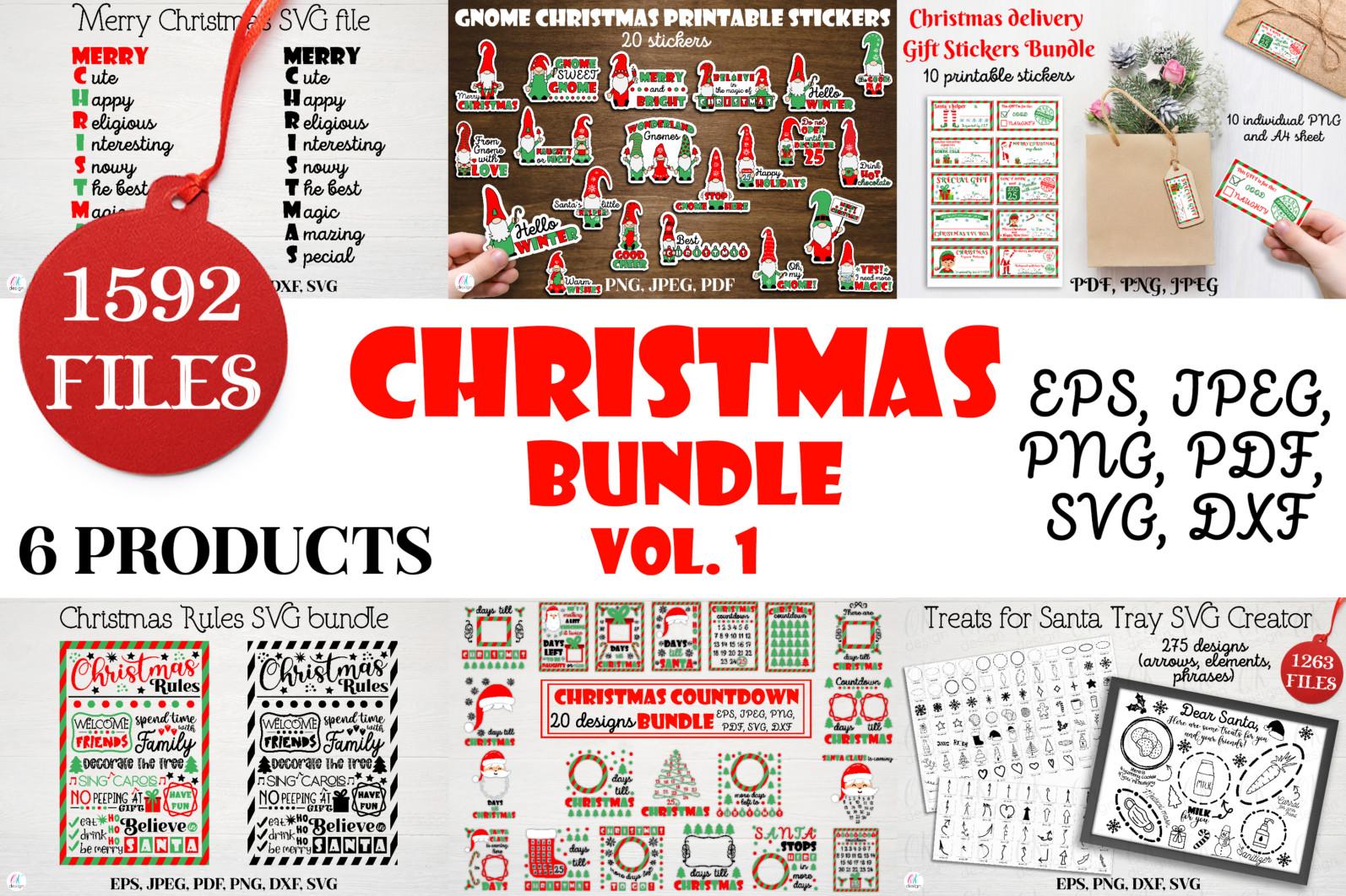 Christmas bundle Vol. 1. Christmas stickers. Christmas SVG bundle. - 1 Christmas svg bundle Christmas countdown svg Christmas stickers Gnome stickers packaging stickers Christmas sublimation Santa svg Merry Christmas svg scaled -