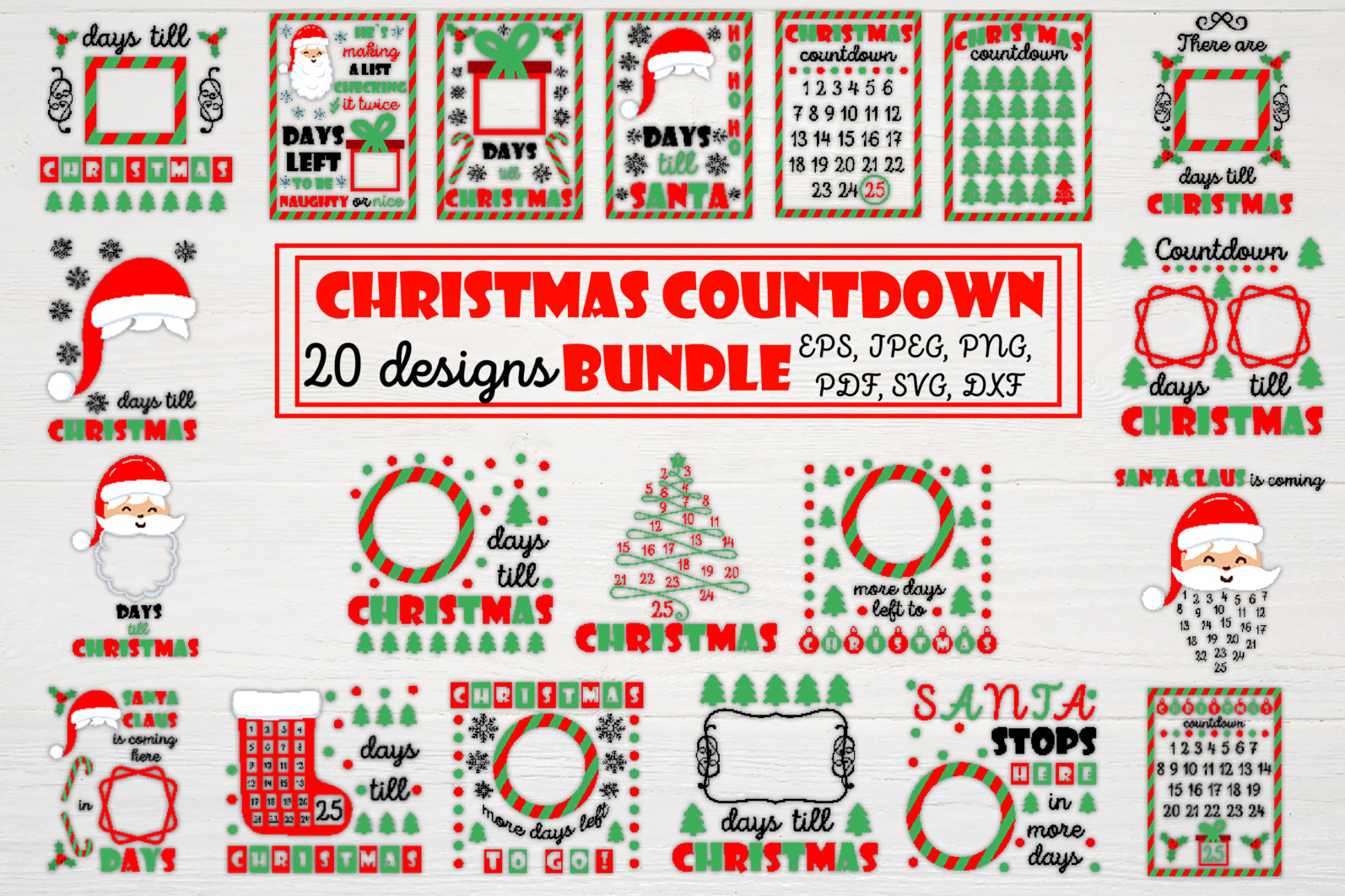 Christmas bundle Vol. 1. Christmas stickers. Christmas SVG bundle. - 2 first Christmas svg Christmas countdown svg Christmas count down Christmas sign svg days until Christmas svg scaled -