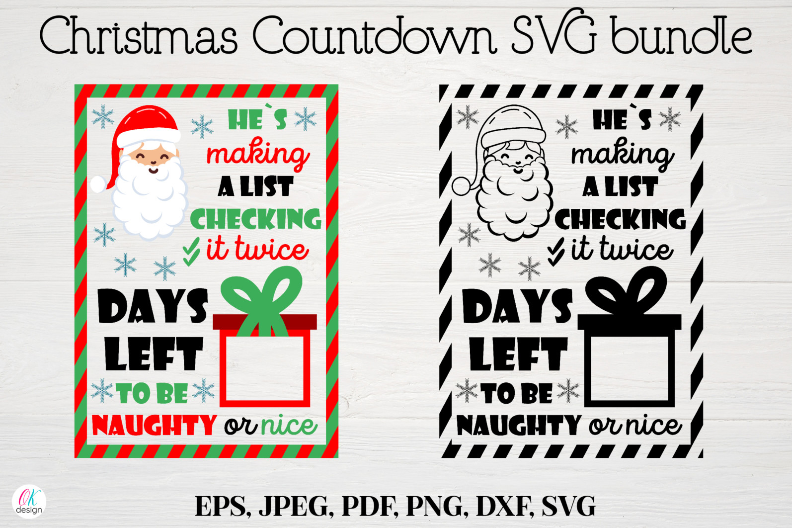 Christmas bundle Vol. 1. Christmas stickers. Christmas SVG bundle. - 3 Christmas svg Christmas countdown svg Christmas count down Christmas sign svg days until Christmas svg scaled -