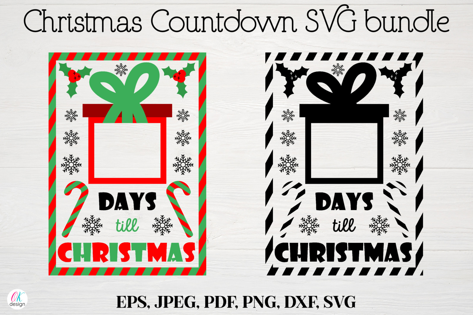 Christmas bundle Vol. 1. Christmas stickers. Christmas SVG bundle. - 4 Christmas svg Christmas countdown svg Christmas count down Christmas sign svg days until Christmas svg scaled -
