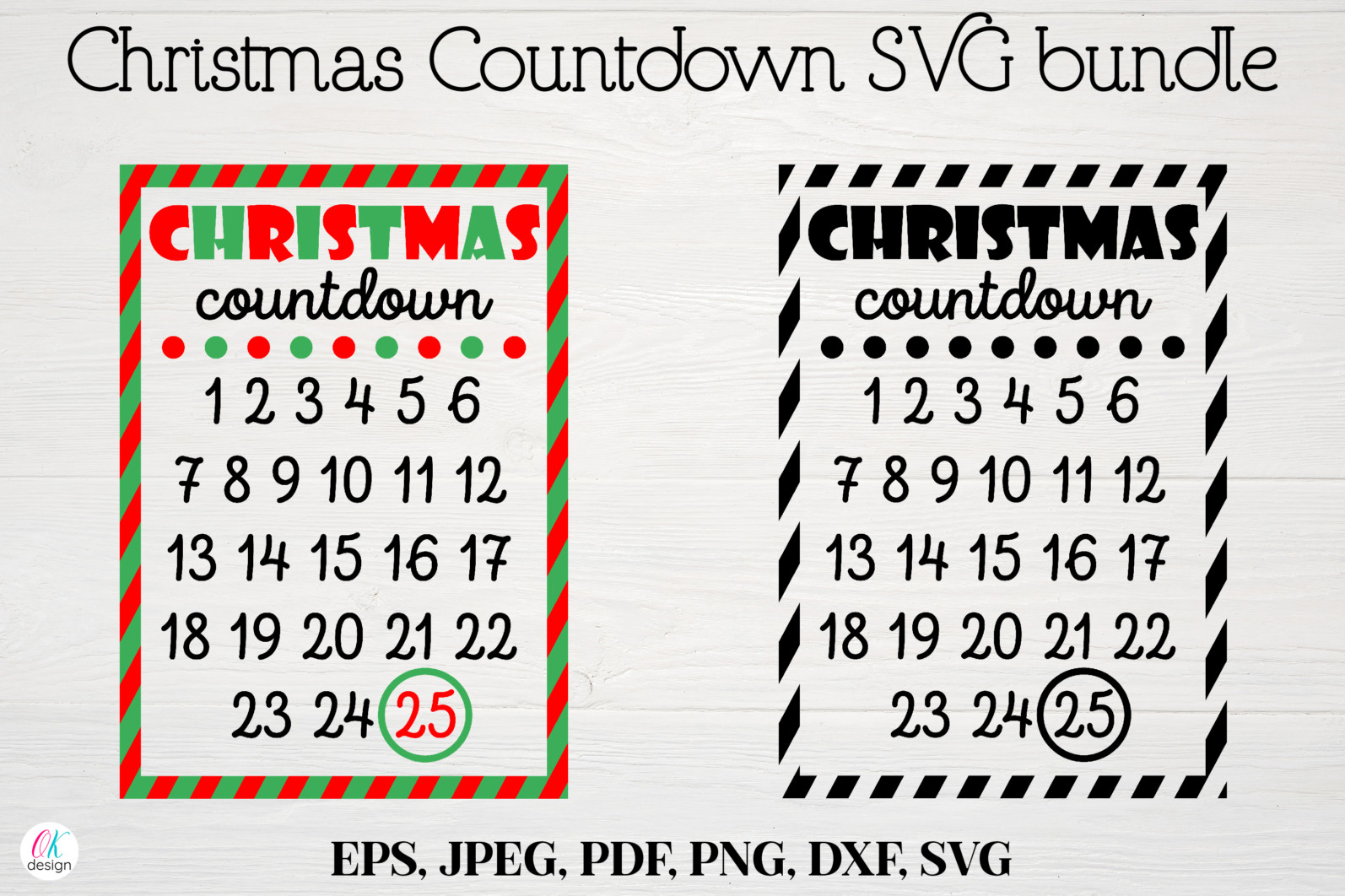 Christmas bundle Vol. 1. Christmas stickers. Christmas SVG bundle. - 5 Christmas svg Christmas countdown svg Christmas count down Christmas sign svg days until Christmas svg scaled -