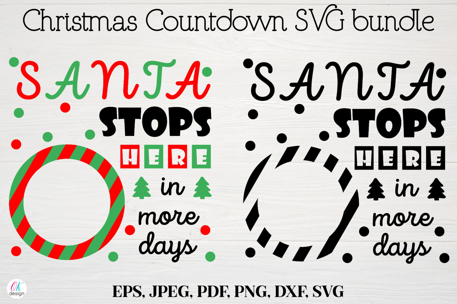 Christmas bundle Vol. 1. Christmas stickers. Christmas SVG bundle. - 6 Christmas svg Christmas countdown svg Christmas count down Christmas sign svg days until Christmas svg scaled -