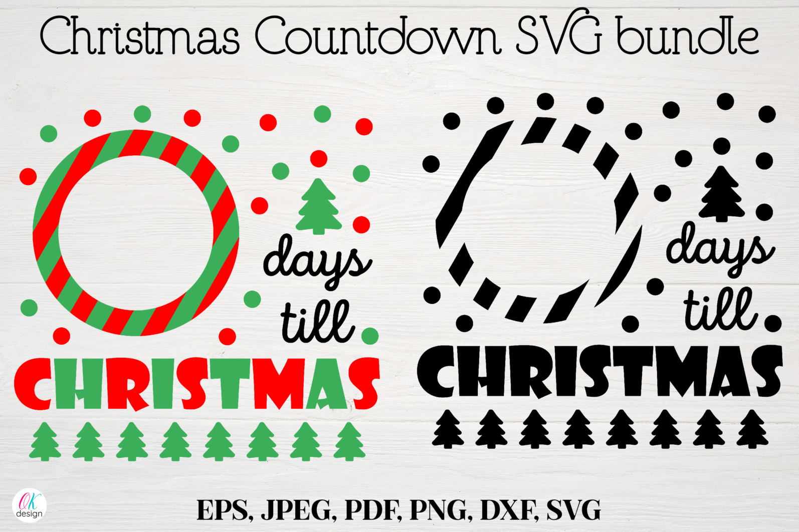 Christmas bundle Vol. 1. Christmas stickers. Christmas SVG bundle. - 7 Christmas svg Christmas countdown svg Christmas count down Christmas sign svg days until Christmas svg scaled -