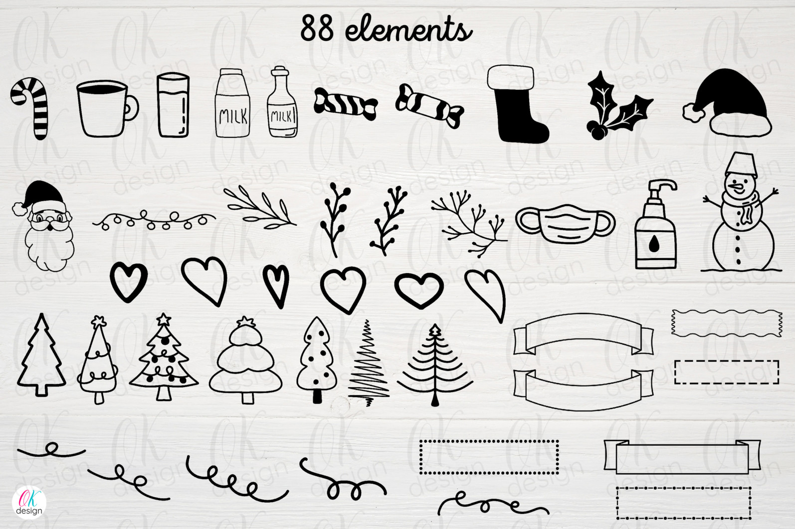 Christmas bundle Vol. 1. Christmas stickers. Christmas SVG bundle. - 11 Santa svg Santa tray Santa tray svg Santa tray bundle Santa tray svg bundle dear Santa tray Cookies for Santa tray svg Christmas tray svg Santa tray creator 1 scaled -