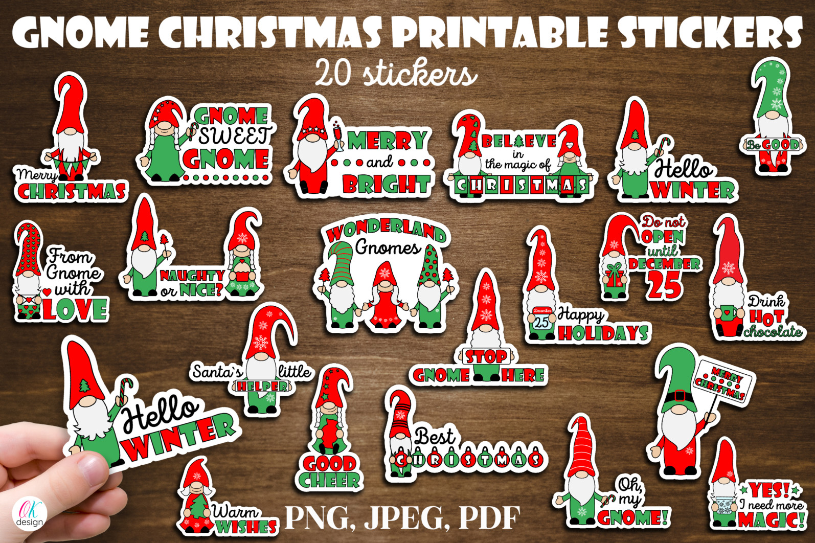 Christmas bundle Vol. 1. Christmas stickers. Christmas SVG bundle. - 19 Gnome Christmas bundle Christmas gnome sublimation Christmas stickers gnome Christmas stickers Christmas gnome stickers Gnome stickers print and cut stickers scaled -