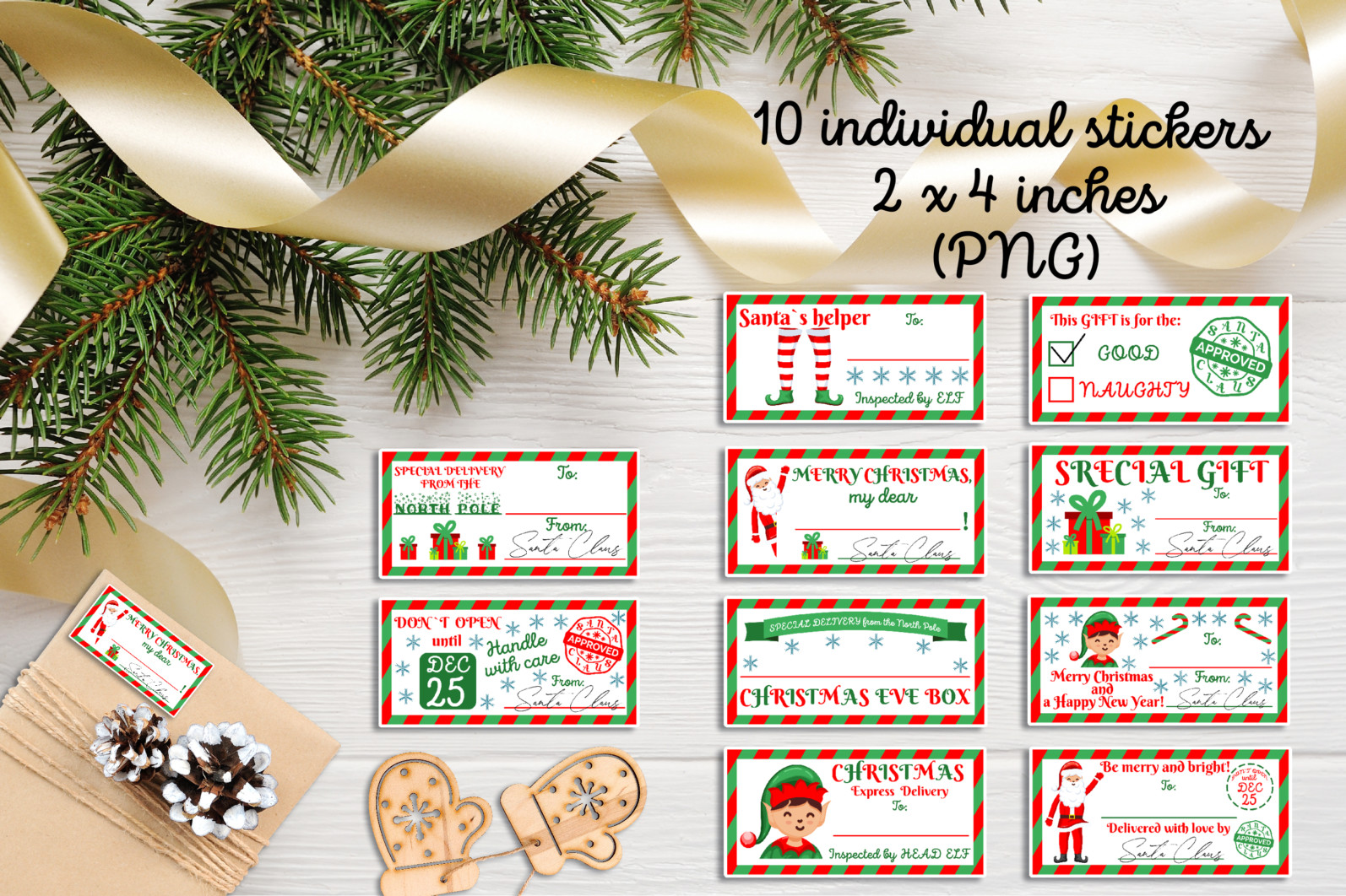 Christmas bundle Vol. 1. Christmas stickers. Christmas SVG bundle. - 23 Christmas Stickers custom gift tags Christmas gift christmas gift tags holiday stickers printable gift tag stickers Printable Stickers scaled -