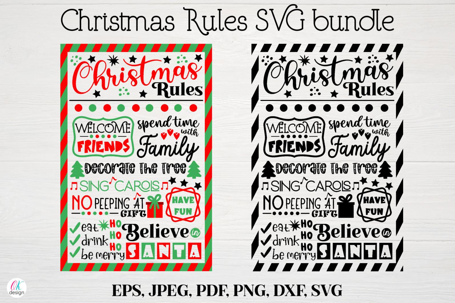 Christmas bundle Vol. 1. Christmas stickers. Christmas SVG bundle. - 25 Christmas svg Christmas rules SVG Christmas sign svg Christmas rules bundle Christmas house rules svg Christmas poster svg Winter svg Christmas decor scaled -