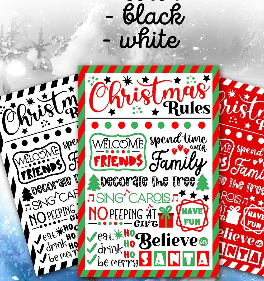 Christmas bundle Vol. 1. Christmas stickers. Christmas SVG bundle. - 26 Christmas svg Christmas rules SVG Christmas sign svg Christmas rules bundle Christmas house rules svg Christmas poster svg Winter svg Christmas decor 2 -