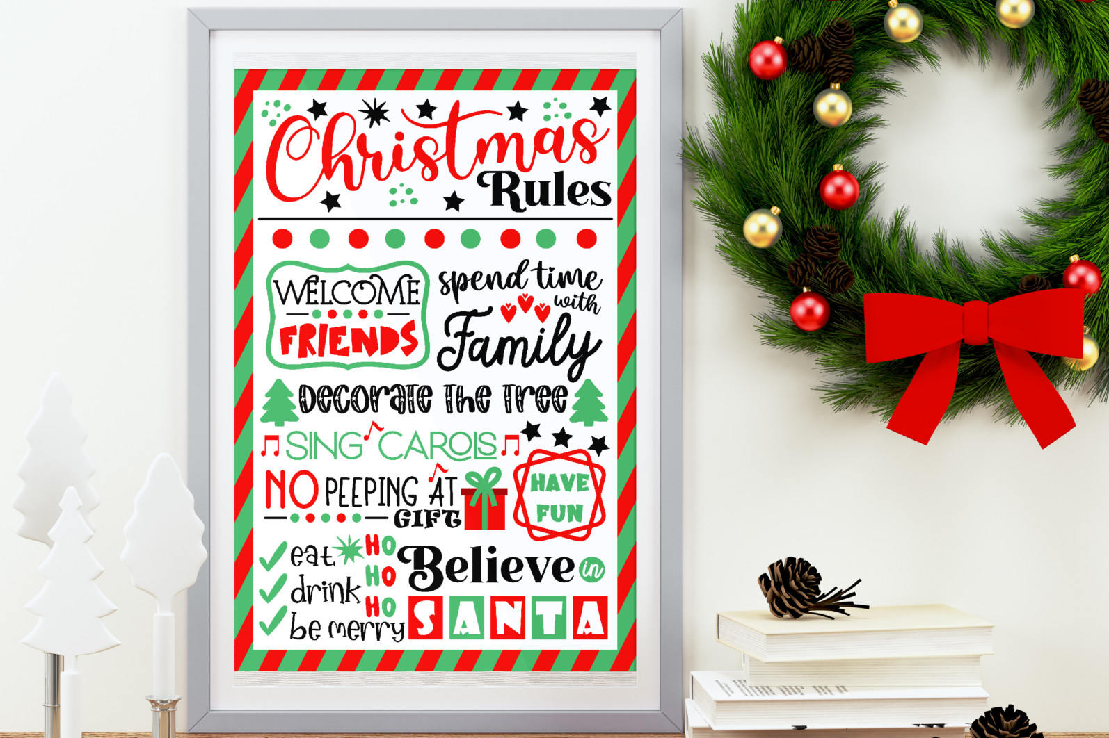 Christmas bundle Vol. 1. Christmas stickers. Christmas SVG bundle. - 27 Christmas svg Christmas rules SVG Christmas sign svg Christmas rules bundle Christmas house rules svg Christmas poster svg Winter svg Christmas decor scaled -