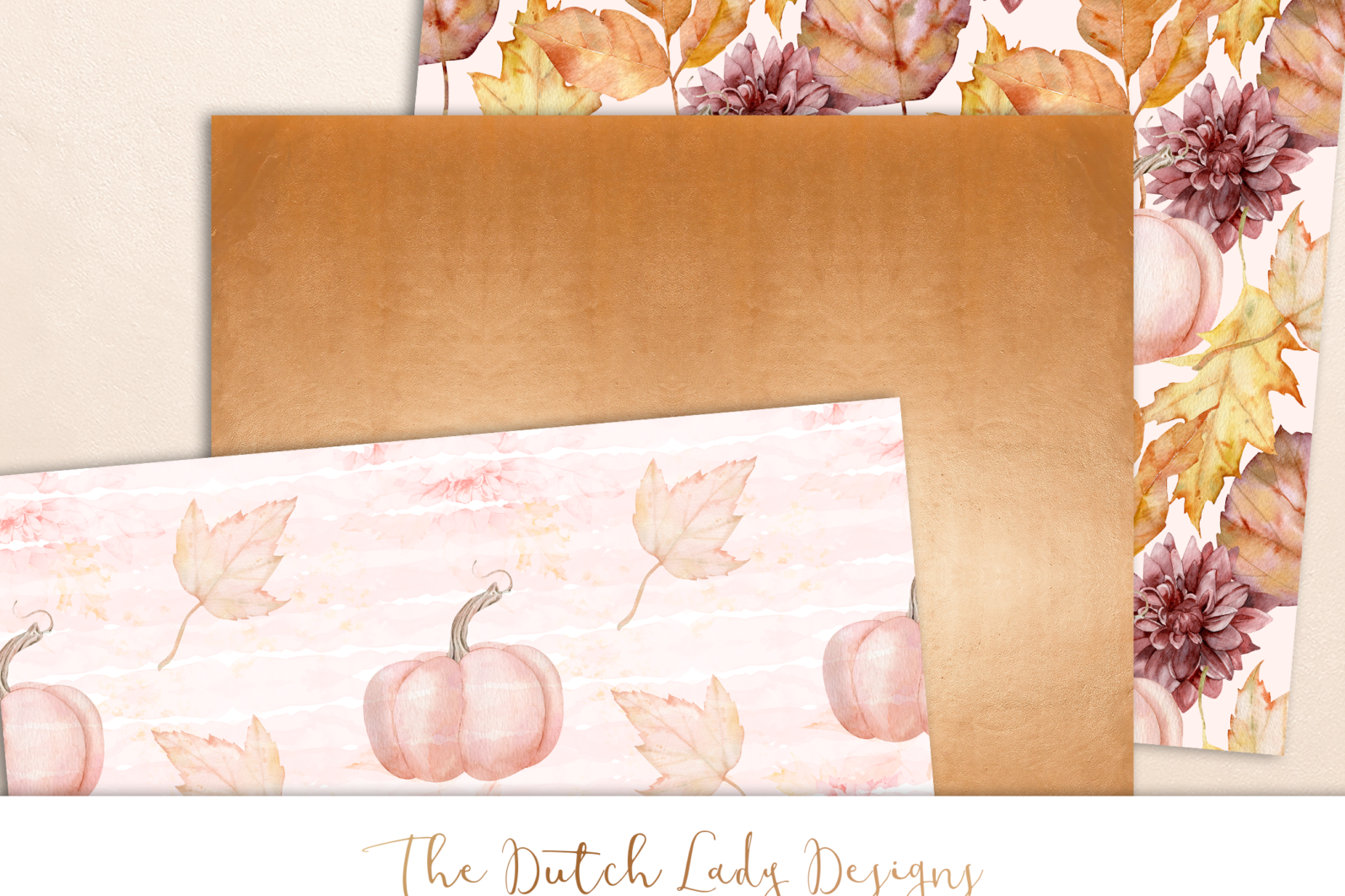 Digital Backgrounds & Scrapbook Papers - Seamless Patterns - Happy Fall - digital background designs -