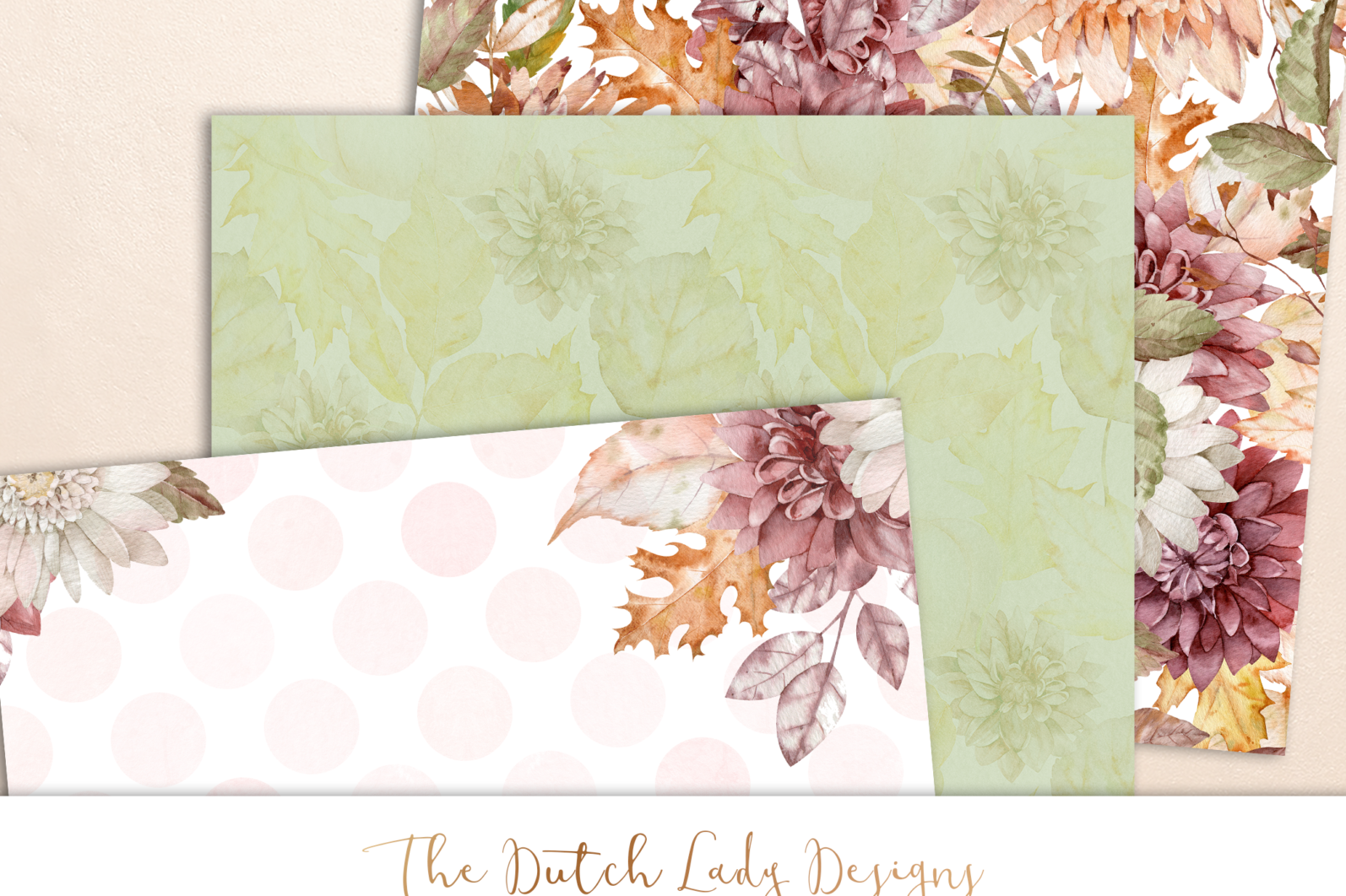 Digital Backgrounds & Scrapbook Papers - Seamless Patterns - Happy Fall - scrapbook paper designs -