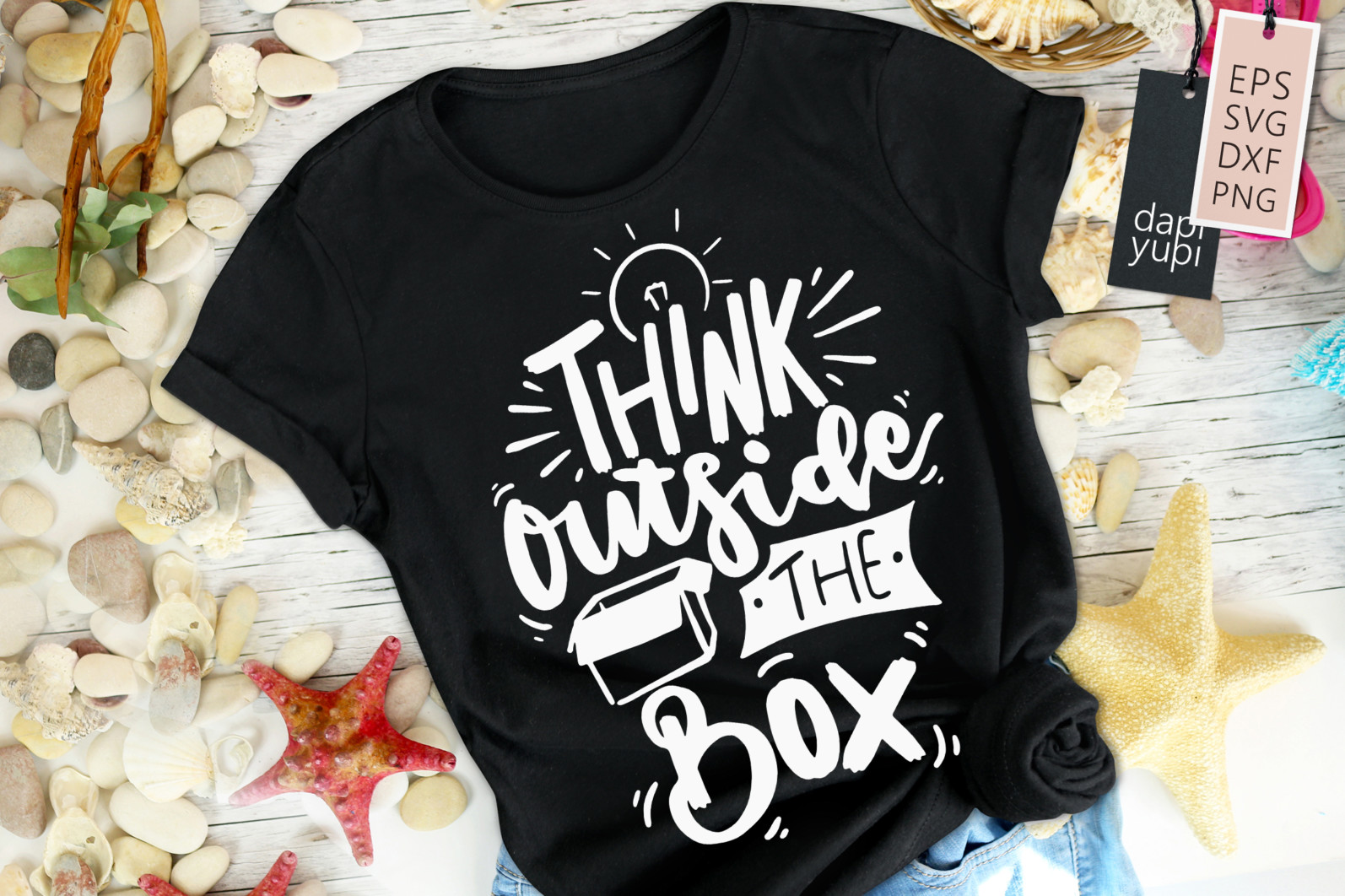 Inspirational Lettering Quotes SVG Think Outside The Box - inspirational7 -