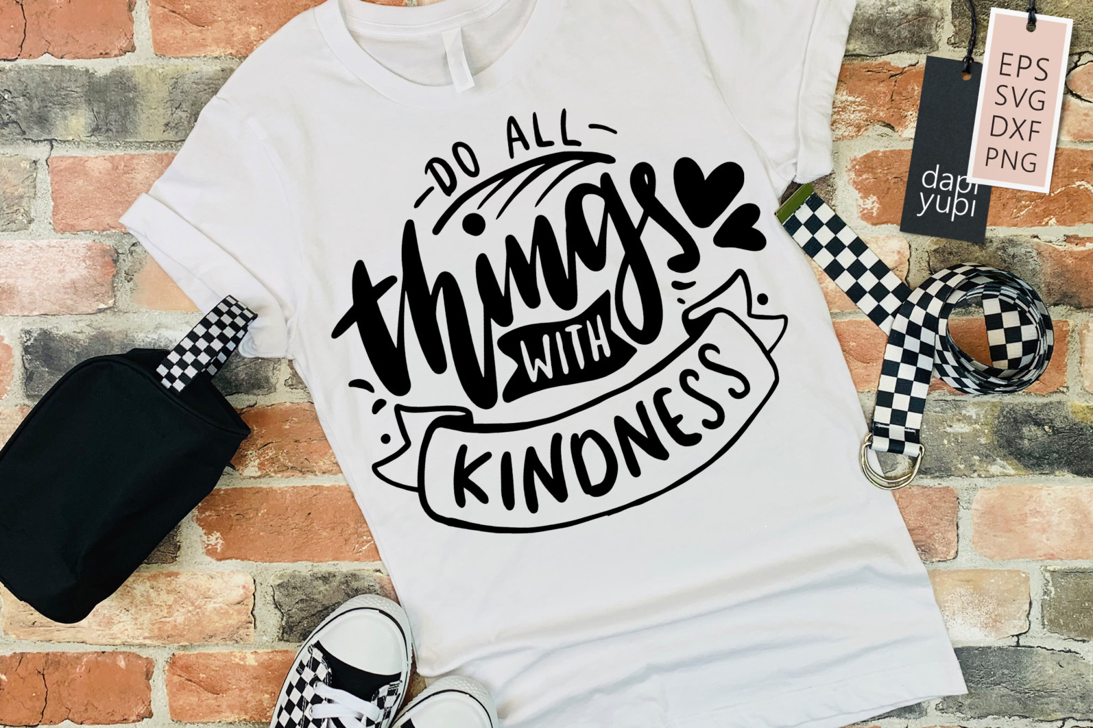 Kindness Lettering Quotes SVG Do All Things With Kindness - kindness5a -