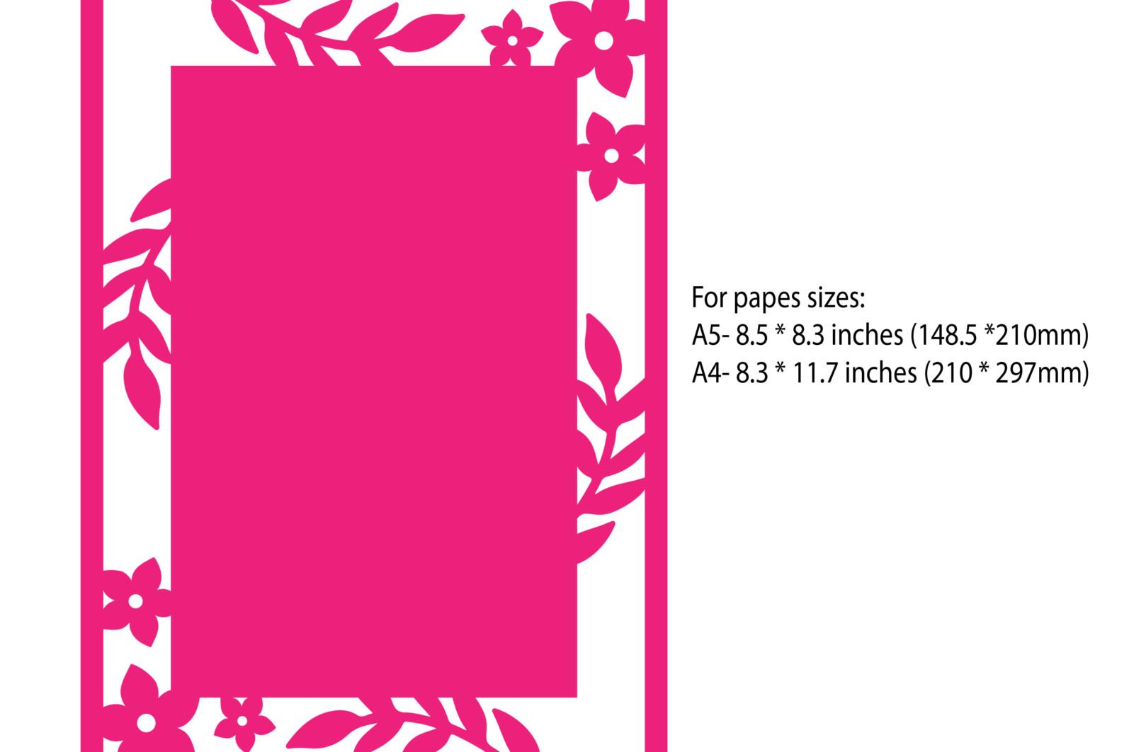 Floral border card - Floral border card 01 1 scaled -