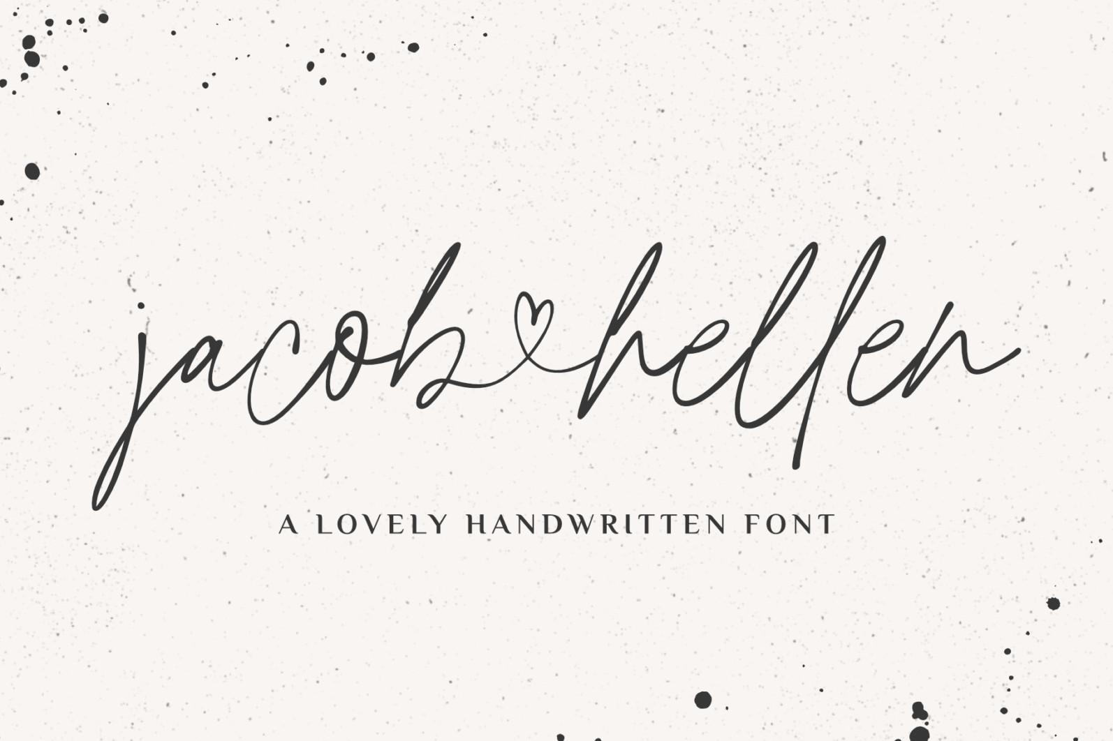 Jacob & Hellen - Jacob Hellen Branding Font 01 -