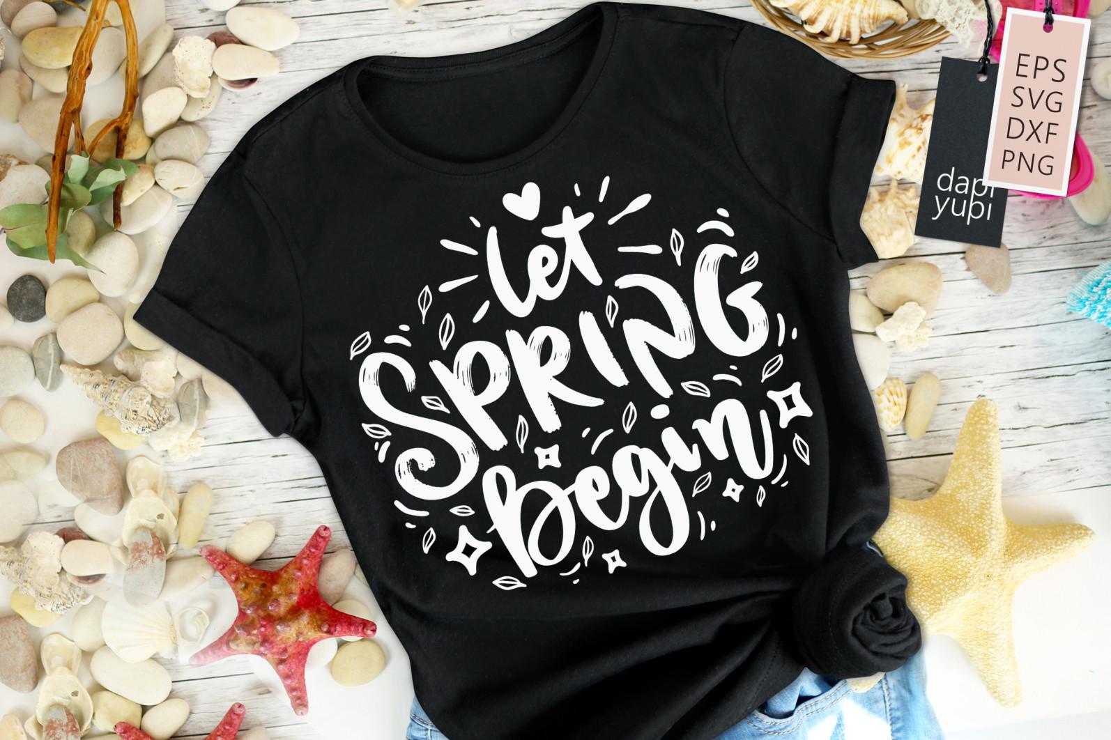 Spring Lettering Quotes Bundle SVG - spring4a -