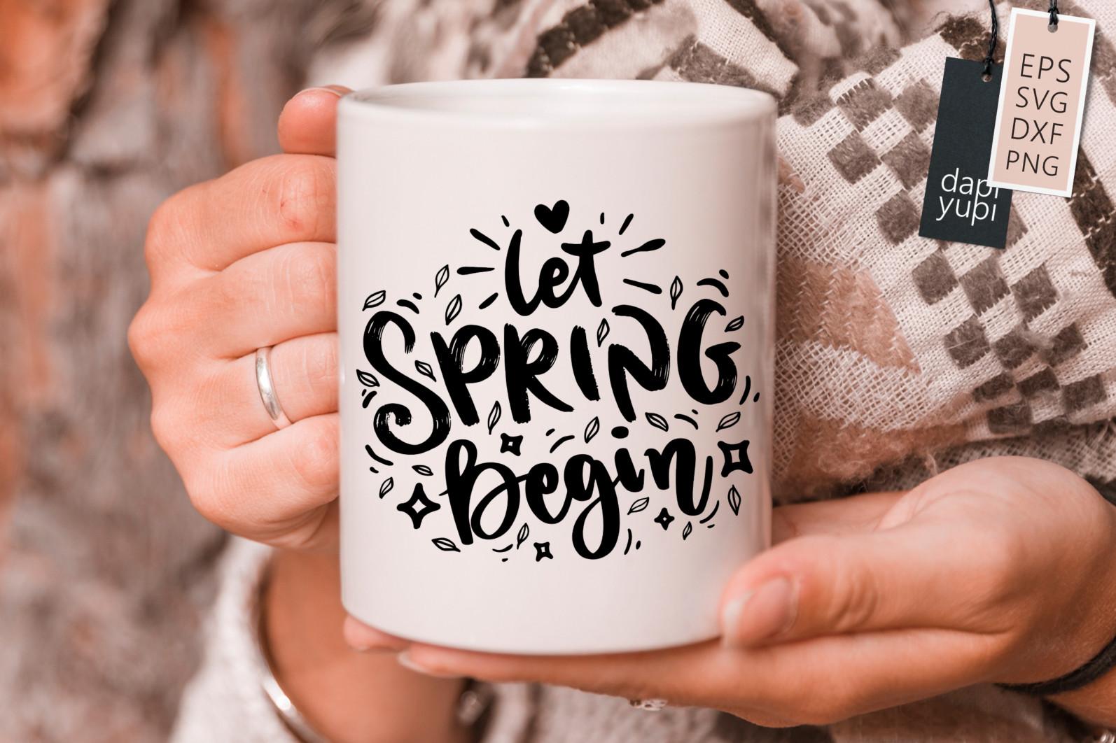 Spring Lettering Quotes Bundle SVG - spring4s -