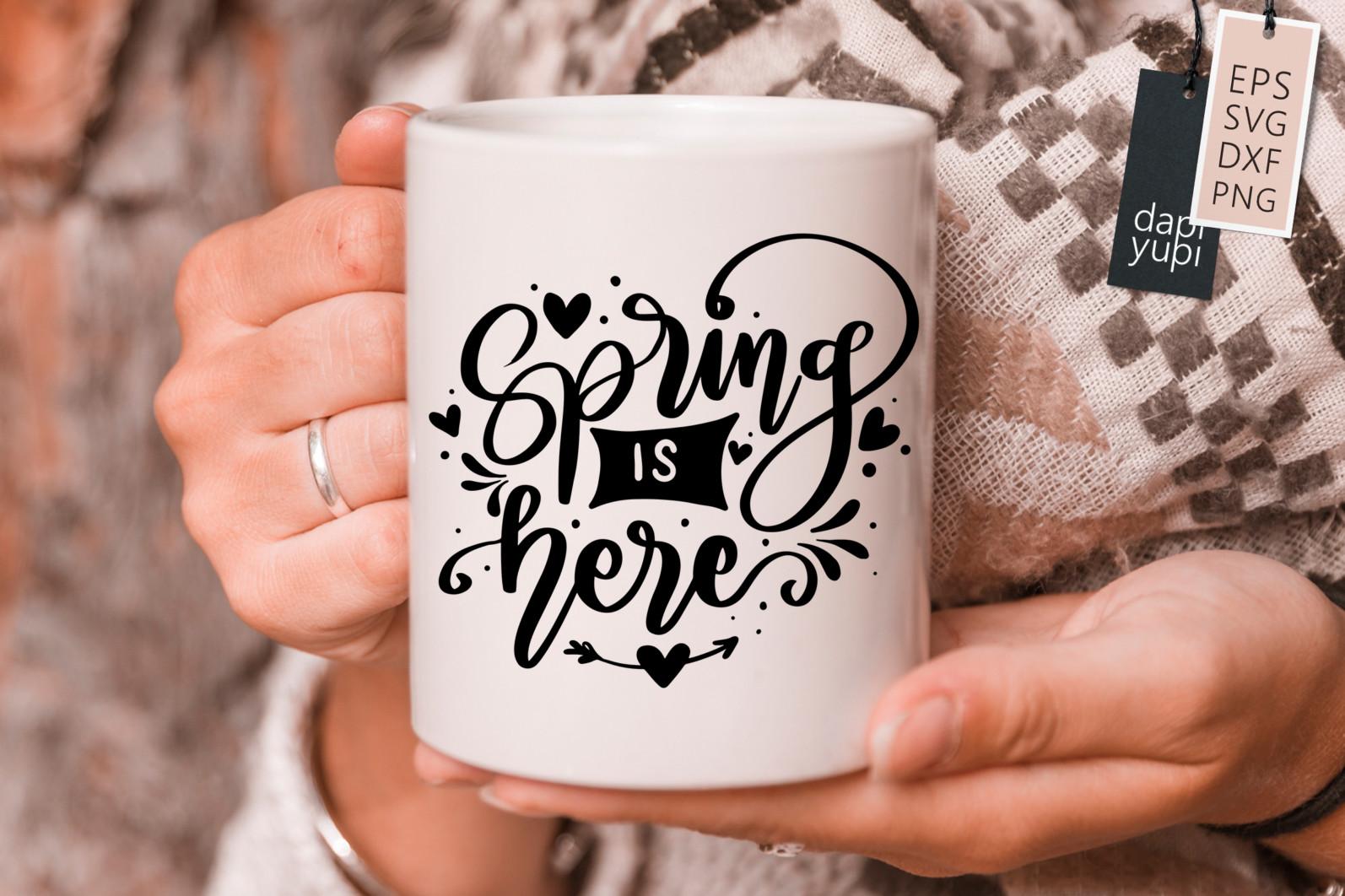 Spring Lettering Quotes Bundle SVG - spring7s -