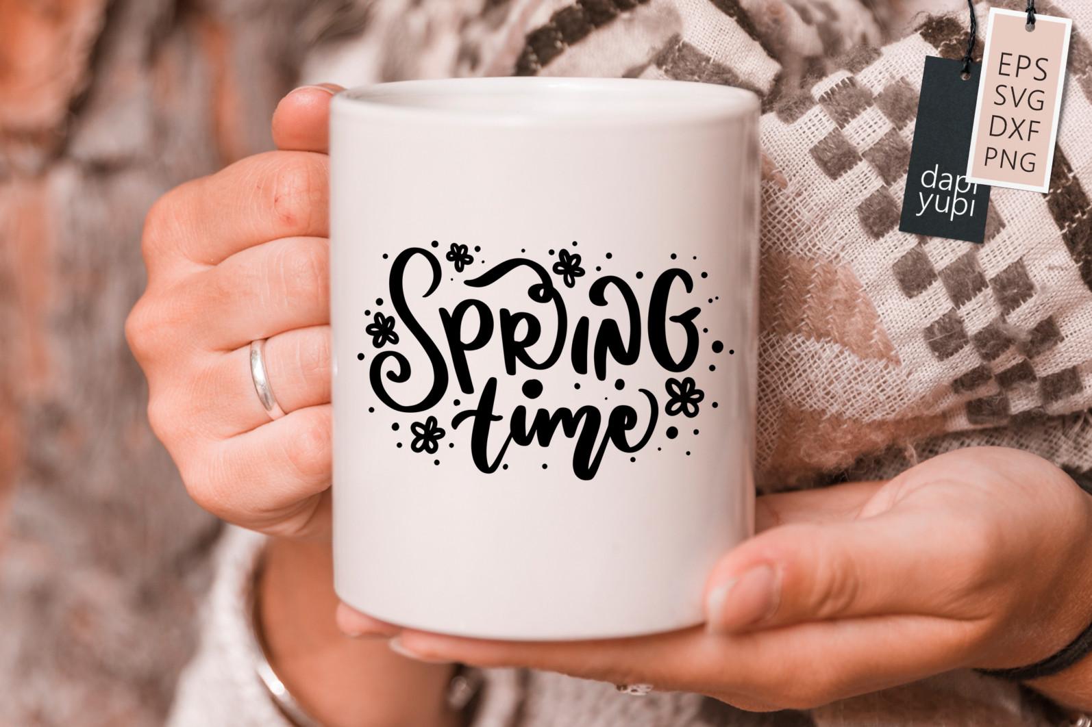 Spring Lettering Quotes Bundle SVG - spring9s -