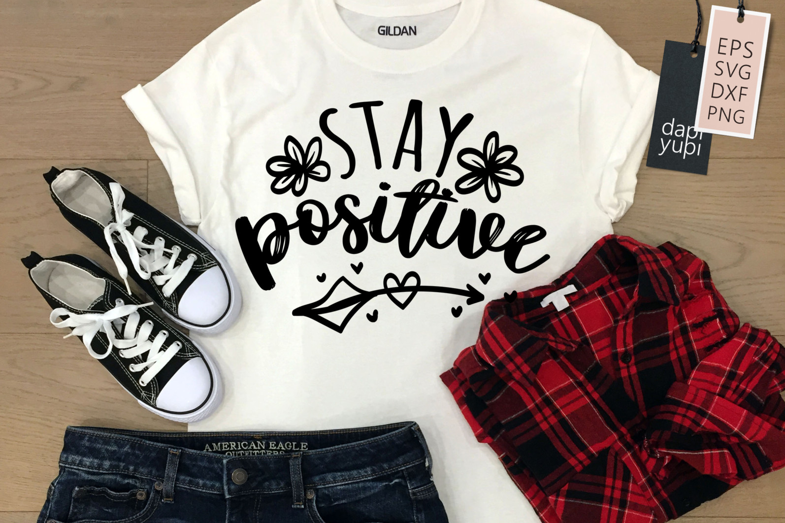 Stay Home Lettering Quotes Bundle Quarantine Quotes - stay positive 1 -