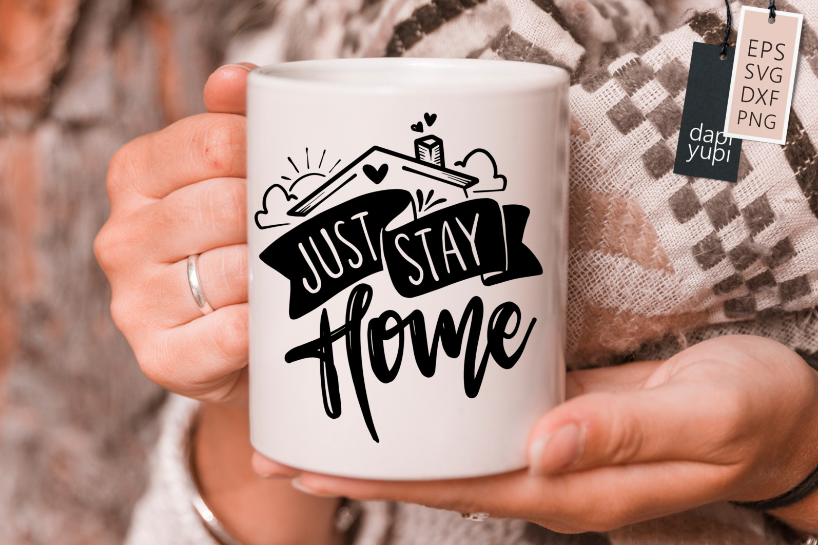 Stay Home Lettering Quotes Bundle Quarantine Quotes - stayhome2s -