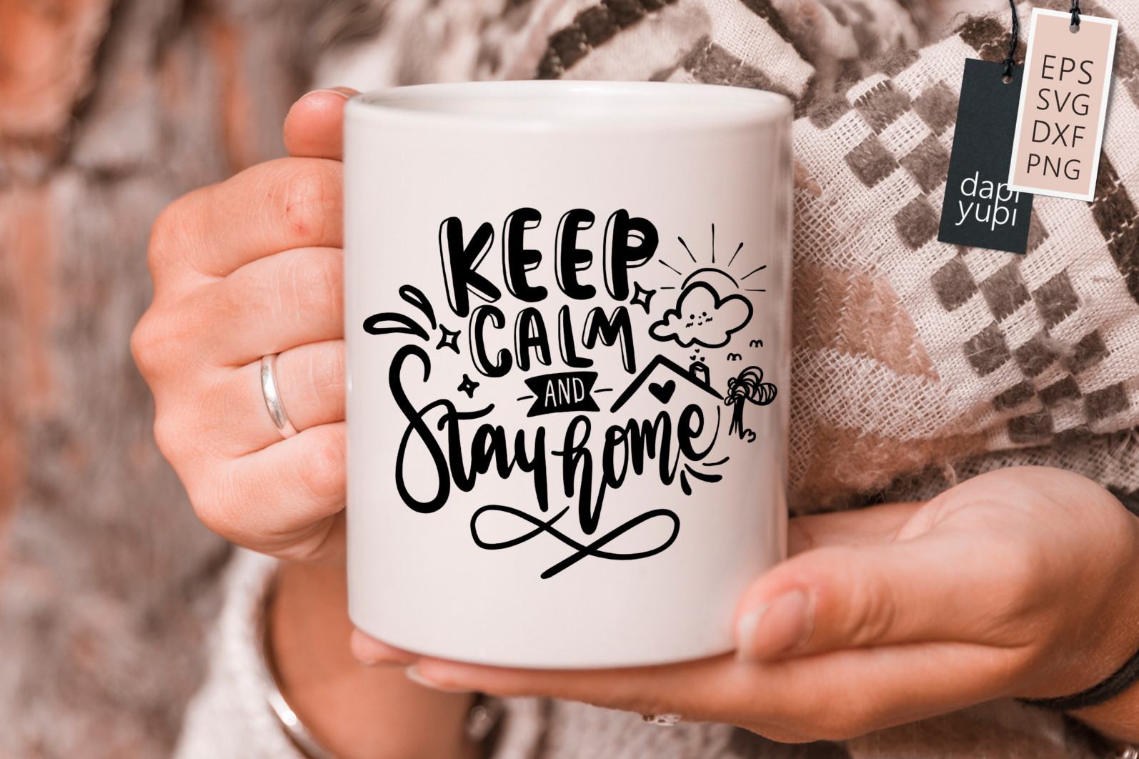 Stay Home Lettering Quotes Bundle Quarantine Quotes - stayhome3s -