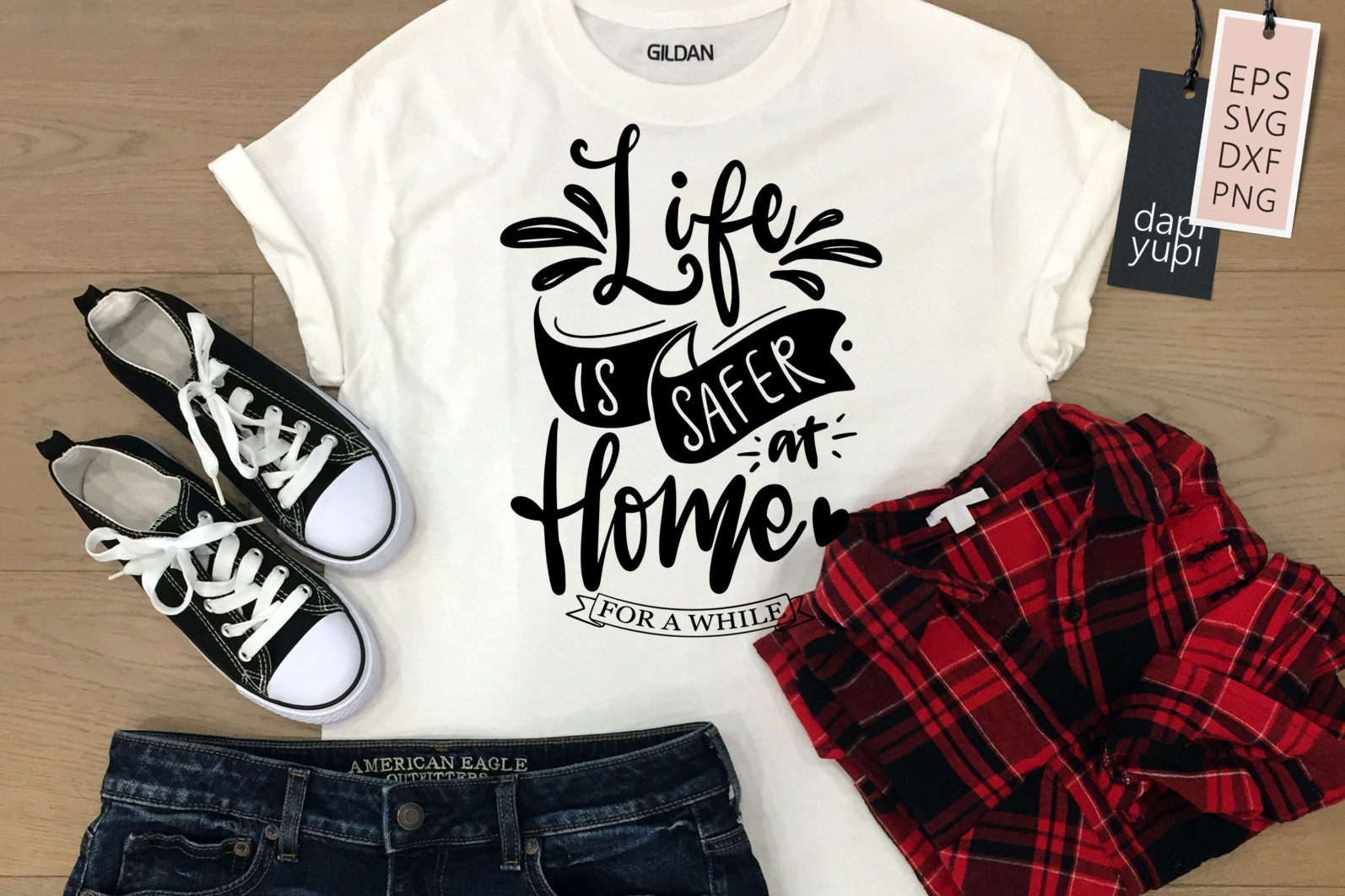 Stay Home Lettering Quotes Bundle Quarantine Quotes - stayhome4a -
