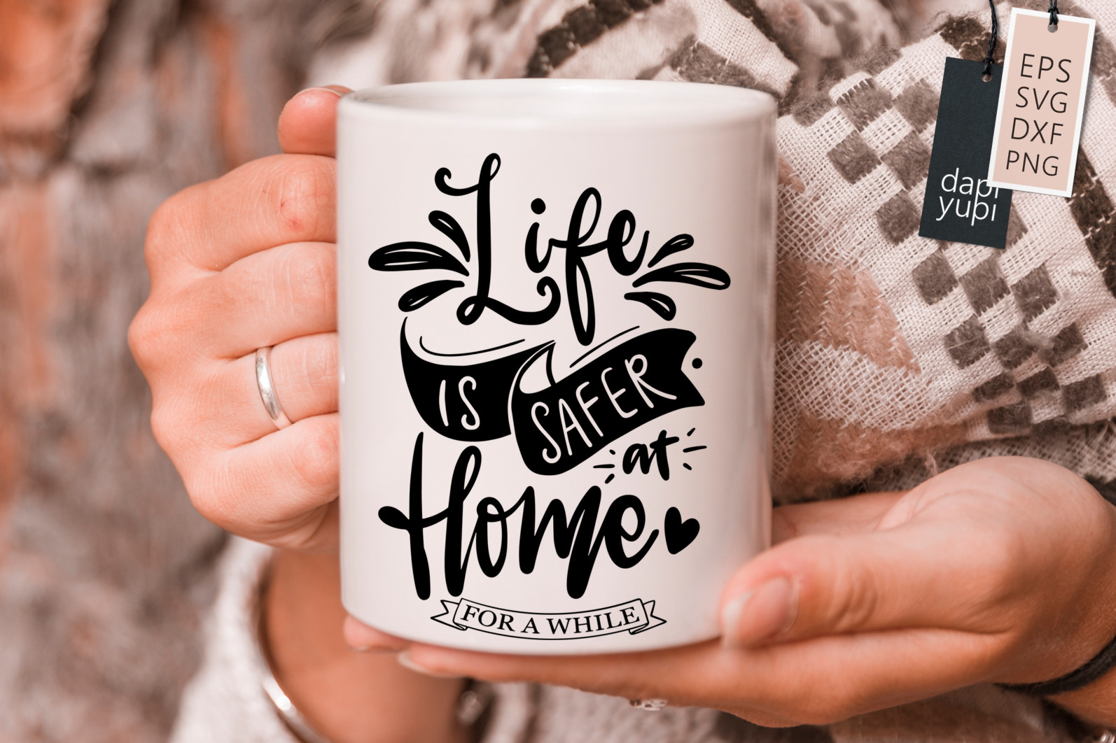 Stay Home Lettering Quotes Bundle Quarantine Quotes - stayhome4s -