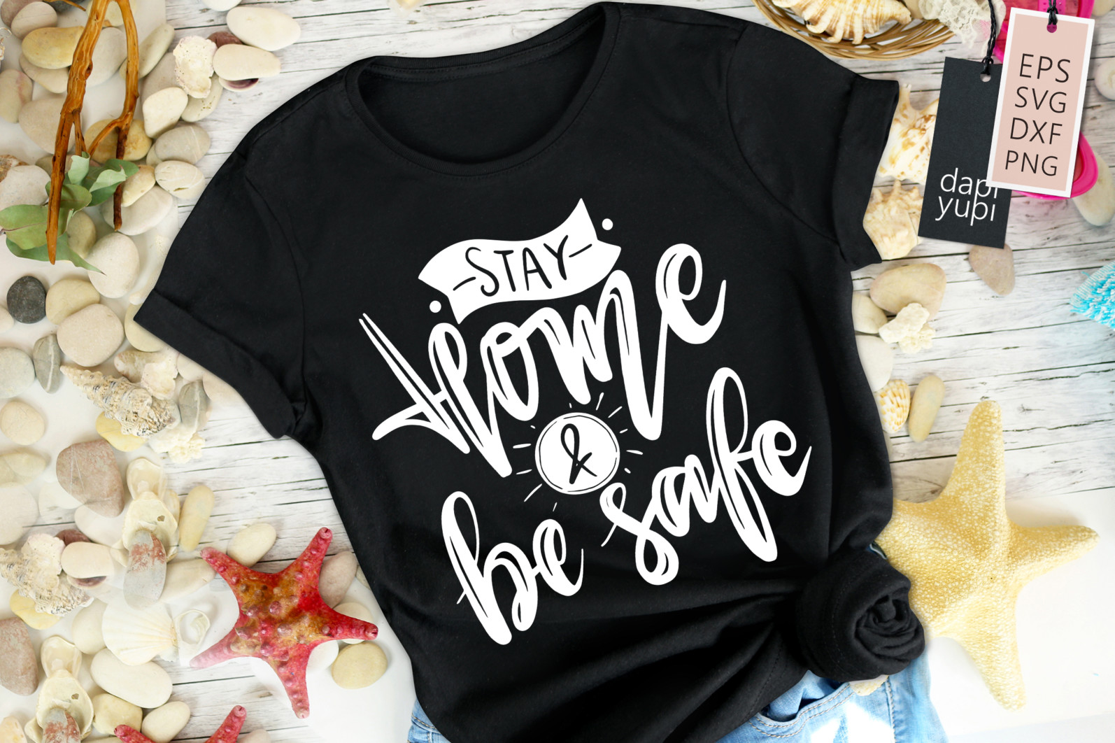 Stay Home Lettering Quotes Bundle Quarantine Quotes - stayhome5 -