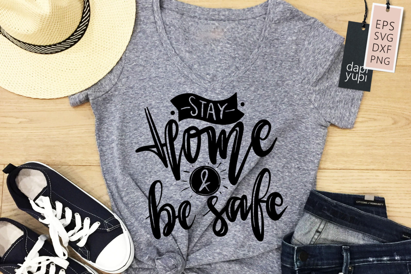 Stay Home Lettering Quotes Bundle Quarantine Quotes - stayhome5a -