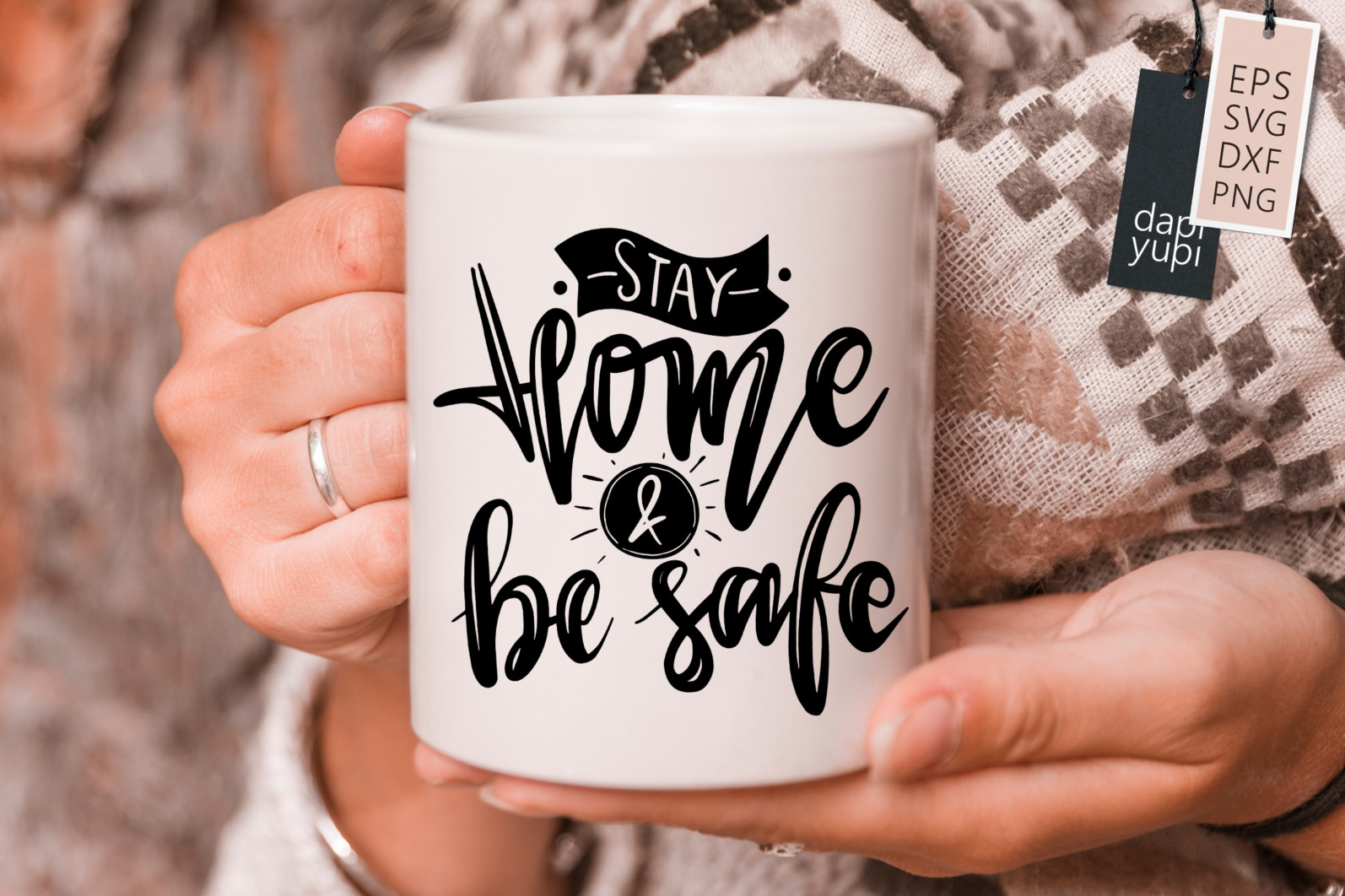 Stay Home Lettering Quotes Bundle Quarantine Quotes - stayhome5s -