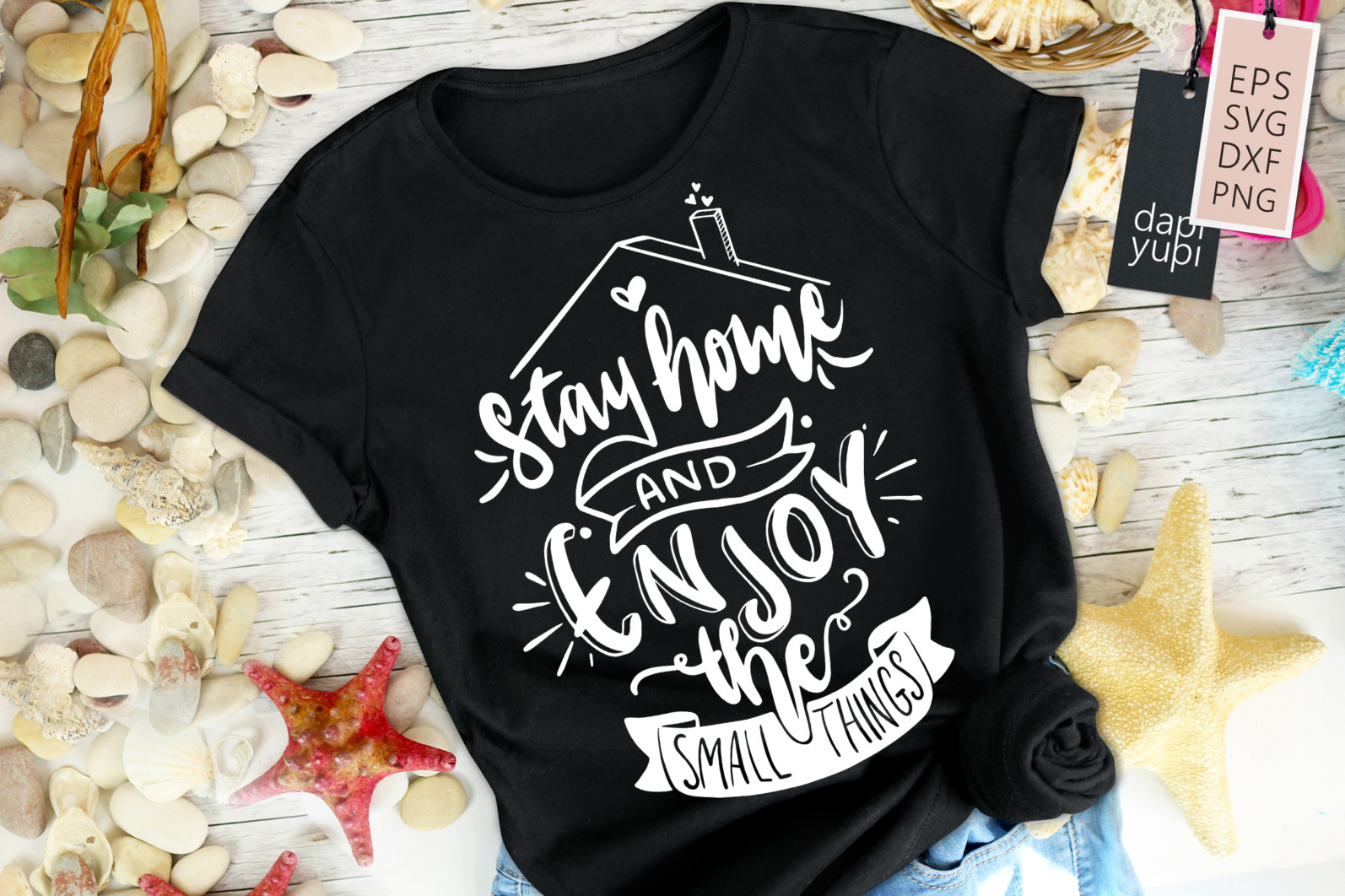 Stay Home Lettering Quotes Bundle Quarantine Quotes - stayhome7a -
