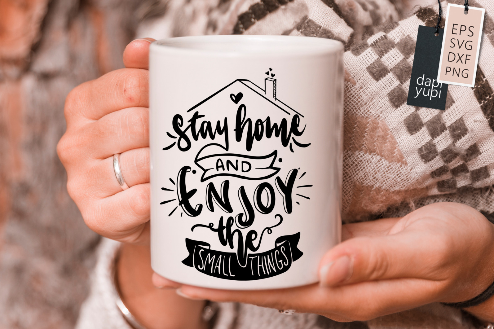 Stay Home Lettering Quotes Bundle Quarantine Quotes - stayhome7s -