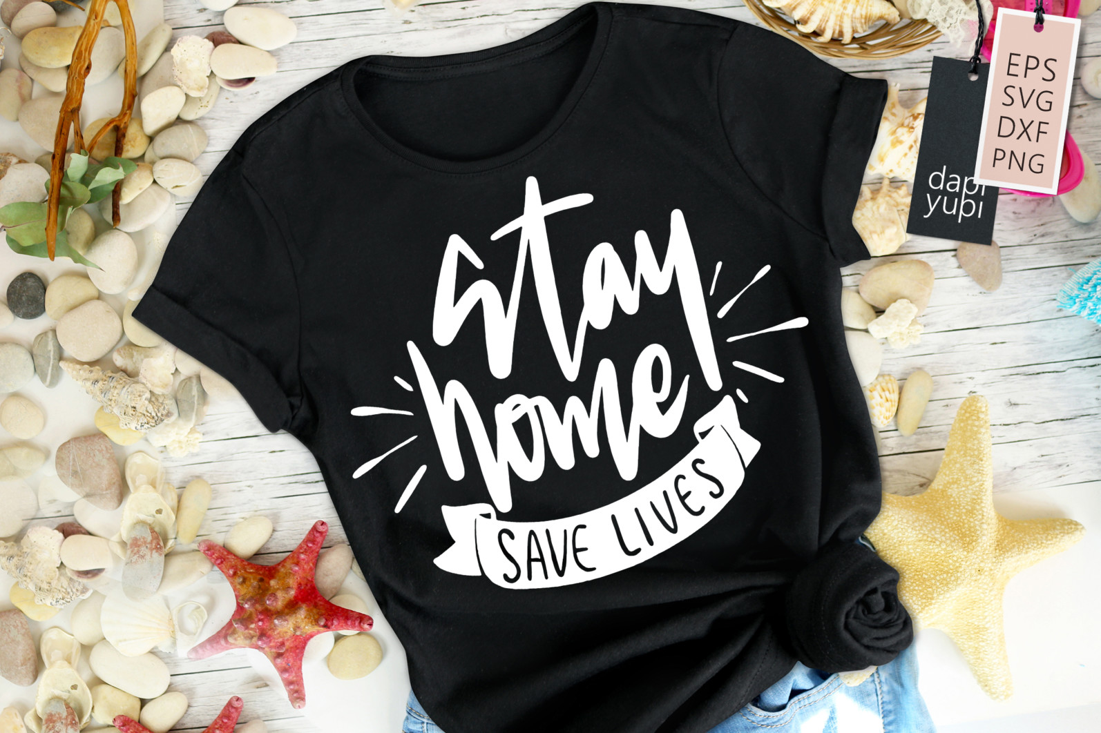 Stay Home Lettering Quotes Bundle Quarantine Quotes - stayhome8 -