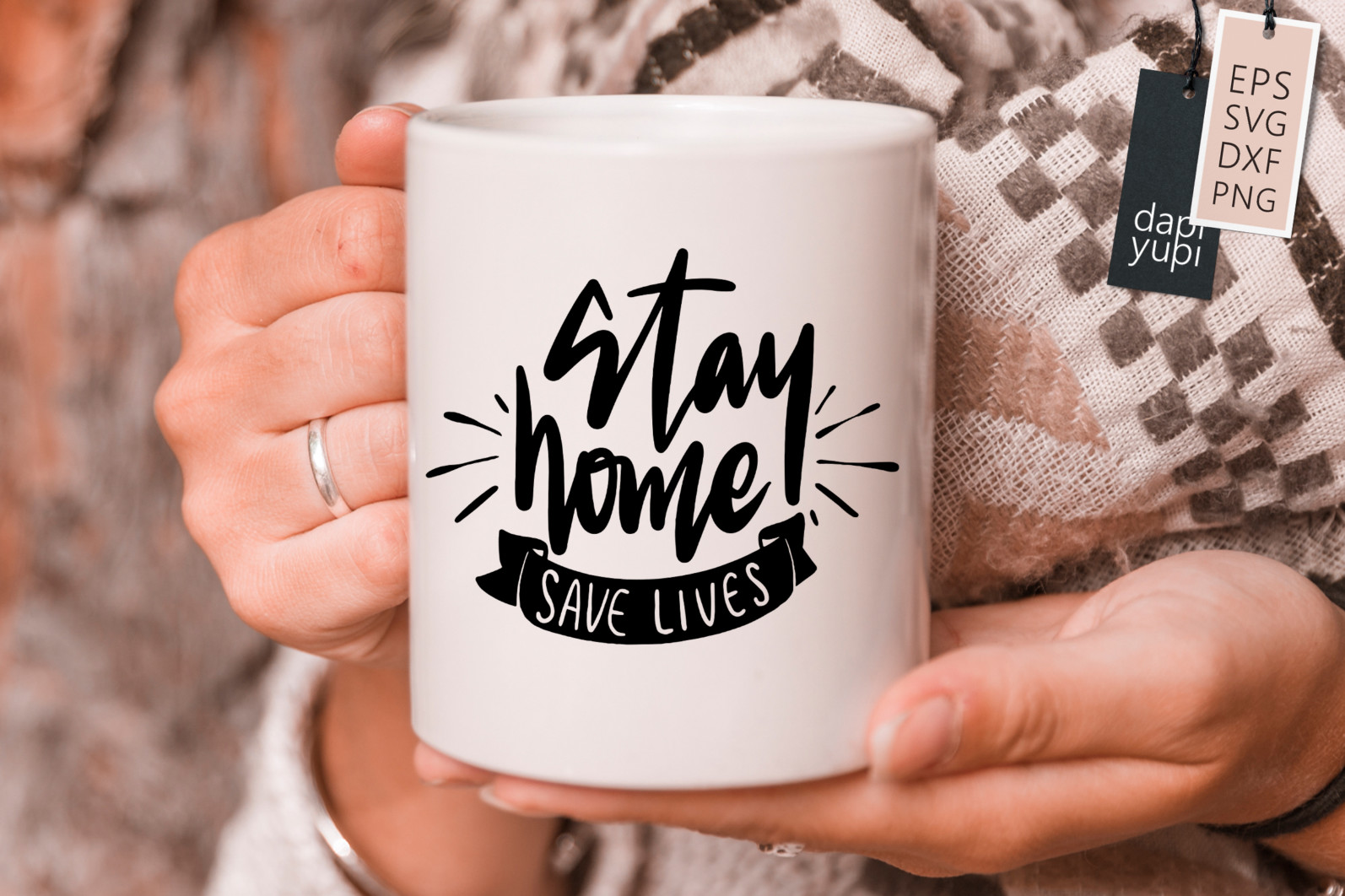 Stay Home Lettering Quotes Bundle Quarantine Quotes - stayhome8s -
