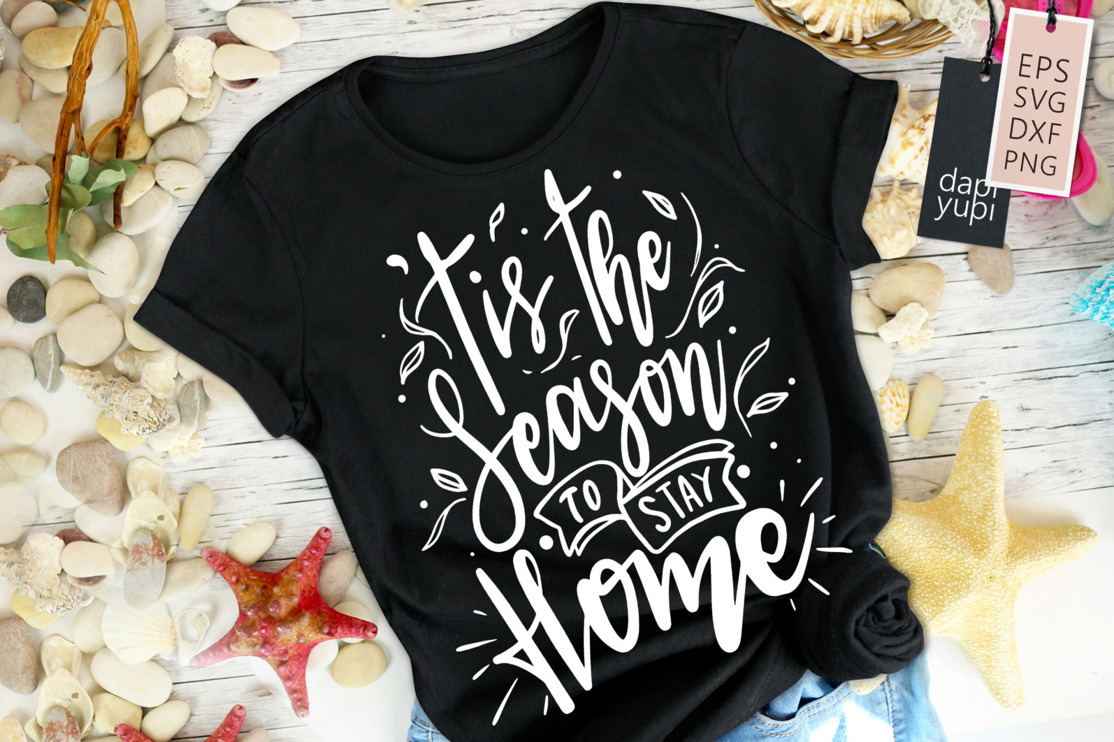 Stay Home Lettering Quotes Bundle Quarantine Quotes - stayhome9a -