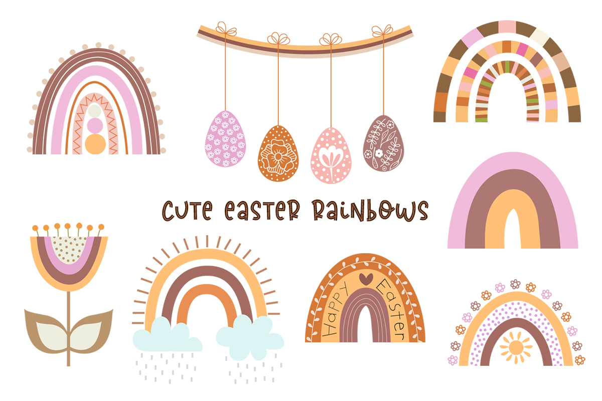 Cute Vector Set of Happy Easter - preview1 1 -