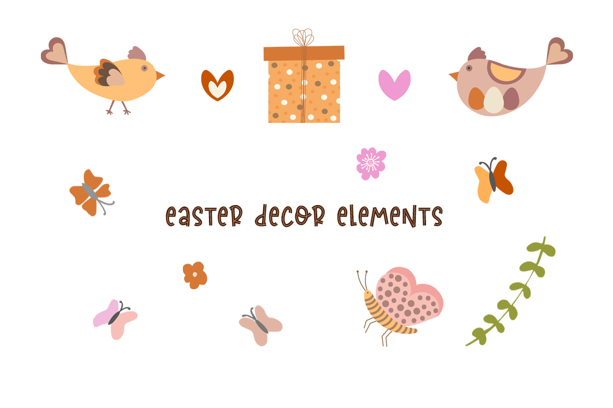 Cute Vector Set of Happy Easter - preview3 1 -