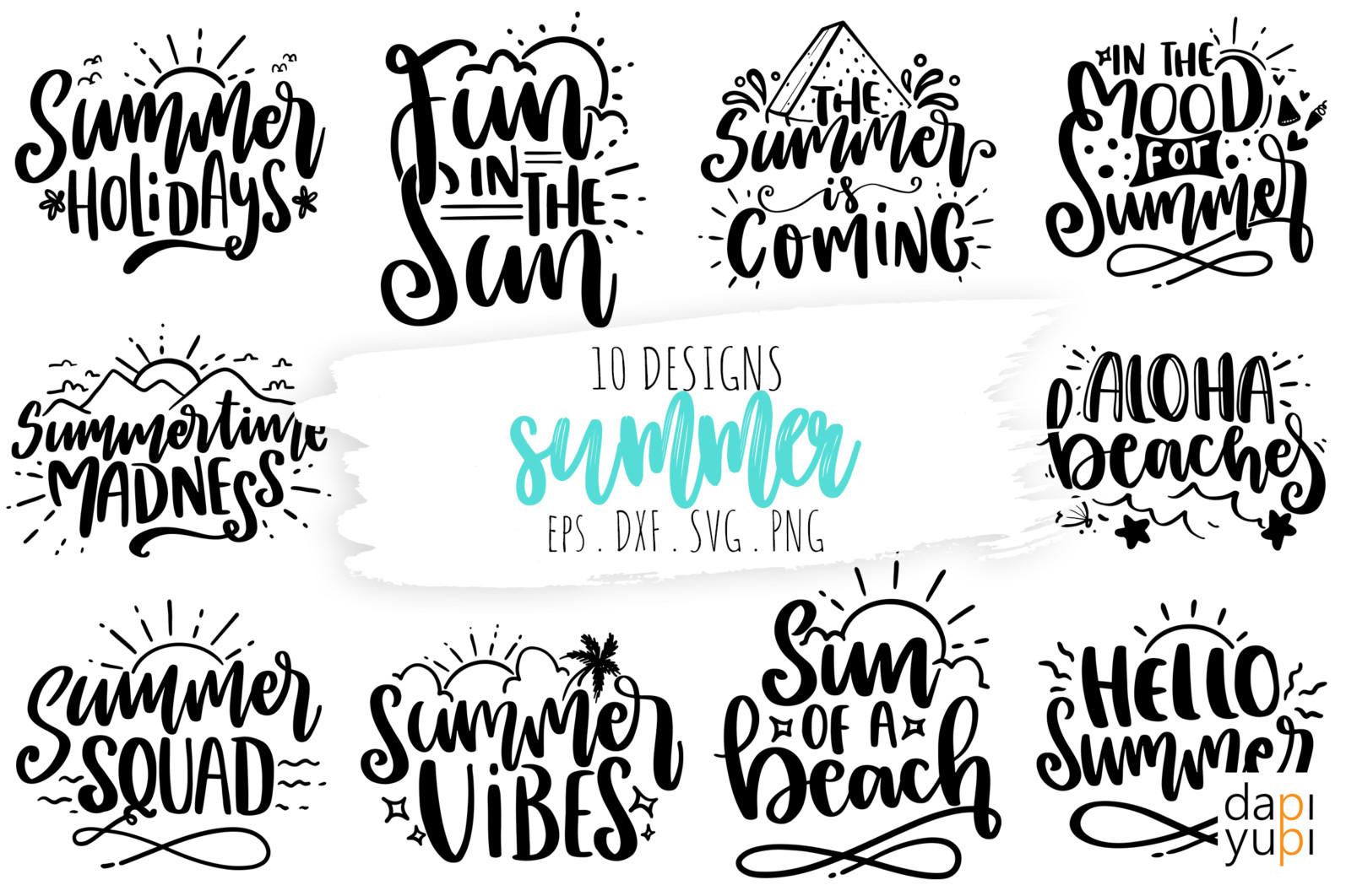 Summer Quotes Bundle, Summer SVG Bundle SVG - summer -