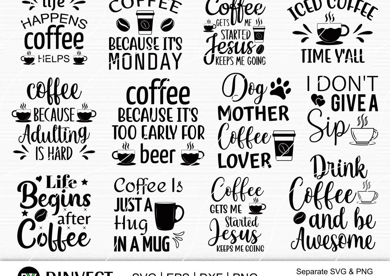 Coffee SVG, Coffee Bundle Svg, Coffee Mug Svg, Funny Coffee Quotes SVG, Mug Design Svg, Coffee Quote - Coffee 1 -
