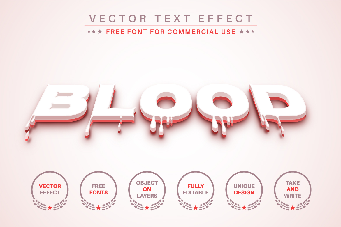 Blood Slime - Editable Text Effect, Font Style - a 28 -