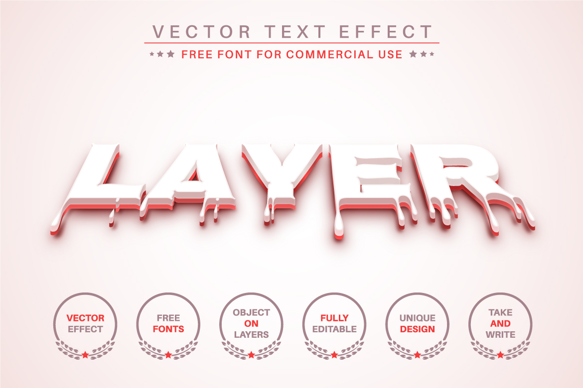 Blood Slime - Editable Text Effect, Font Style - b 28 -