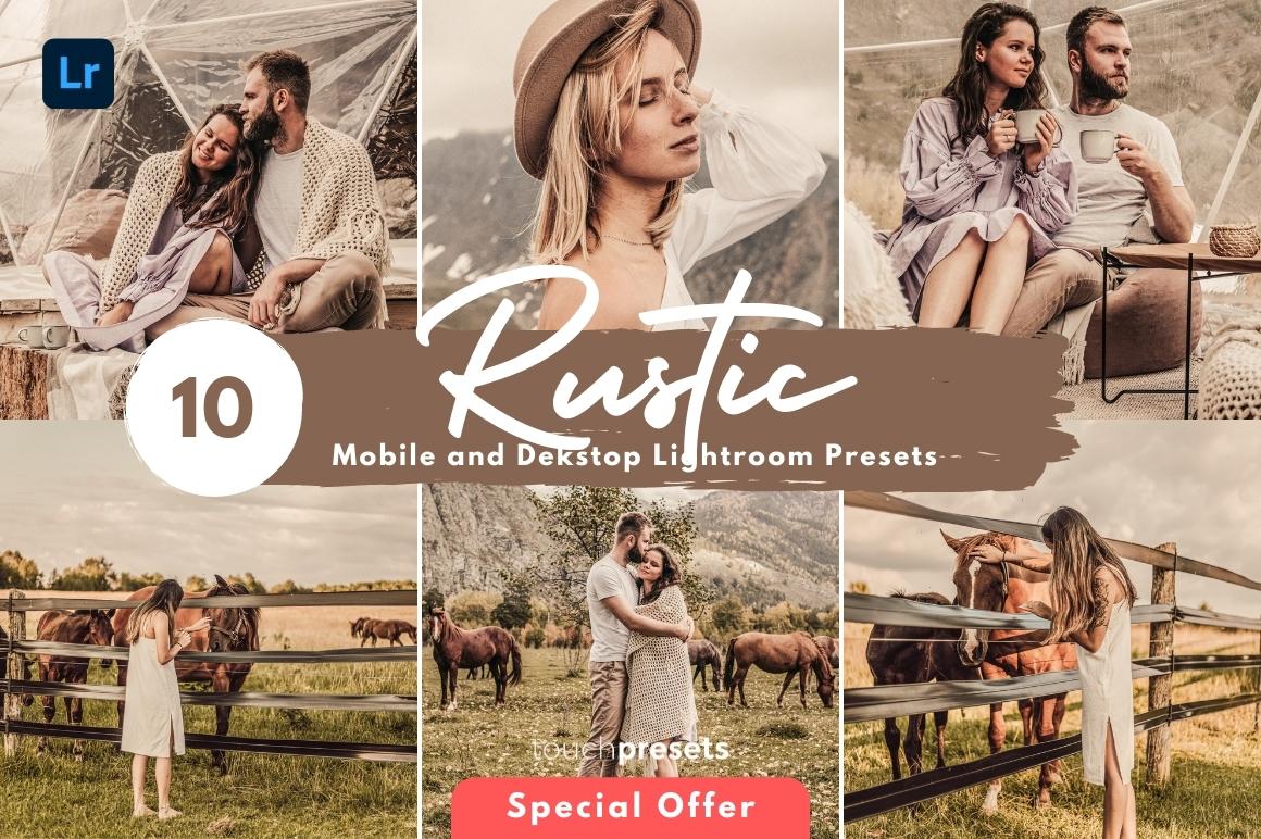 10 Rustic Lightroom Presets for Mobile & Desktop, Moody Presets, Boho Presets - Lightroom Presets Mobile Desktop Rustic 1 -
