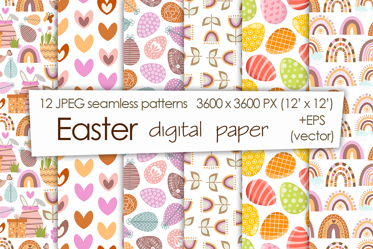 Collection of Seamless Easter Patterns - cover 4 -
