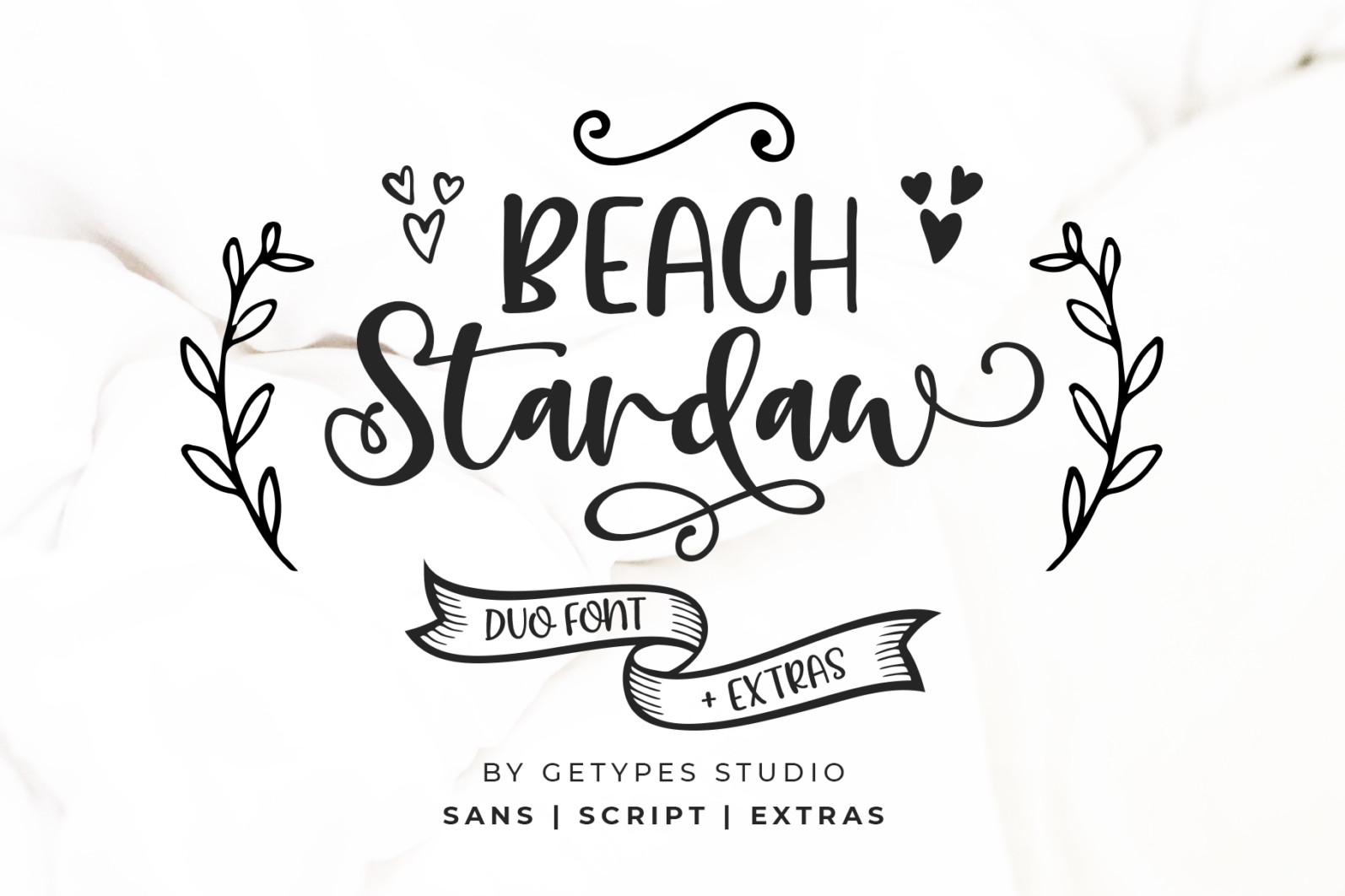 Beach Stardaw - Font Duo With Extras - 01 Preview02 -