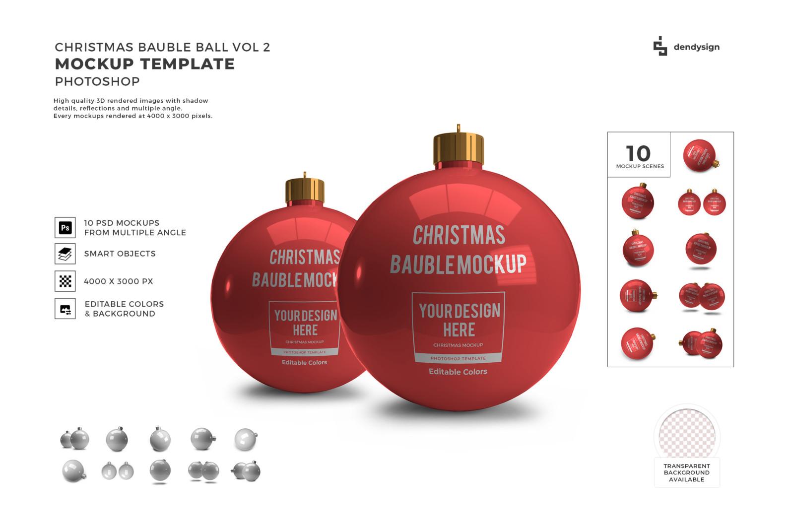 Christmas Bauble Ball Mockup Bundle 2 - Preview32 6 -