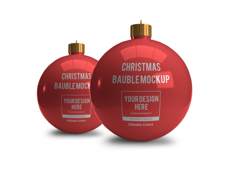 Christmas Bauble Ball Mockup Bundle 2 - 01 10 -