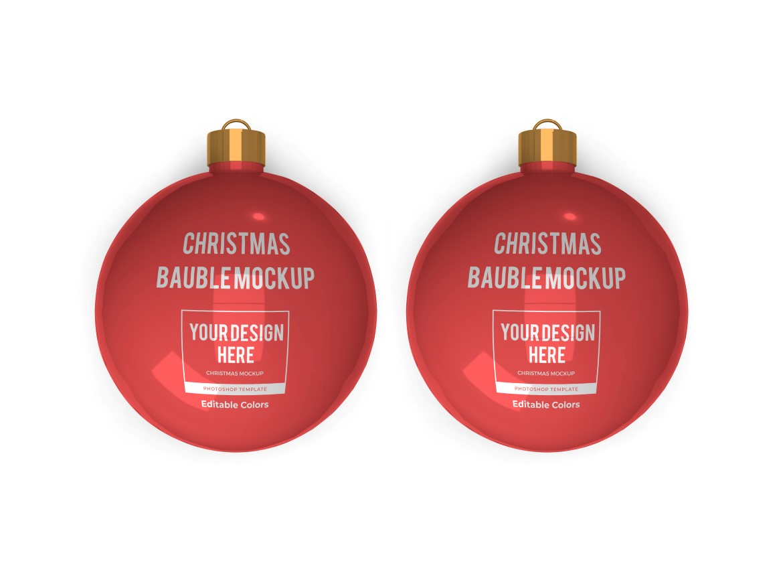 Christmas Bauble Ball Mockup Bundle 2 - 07 10 -
