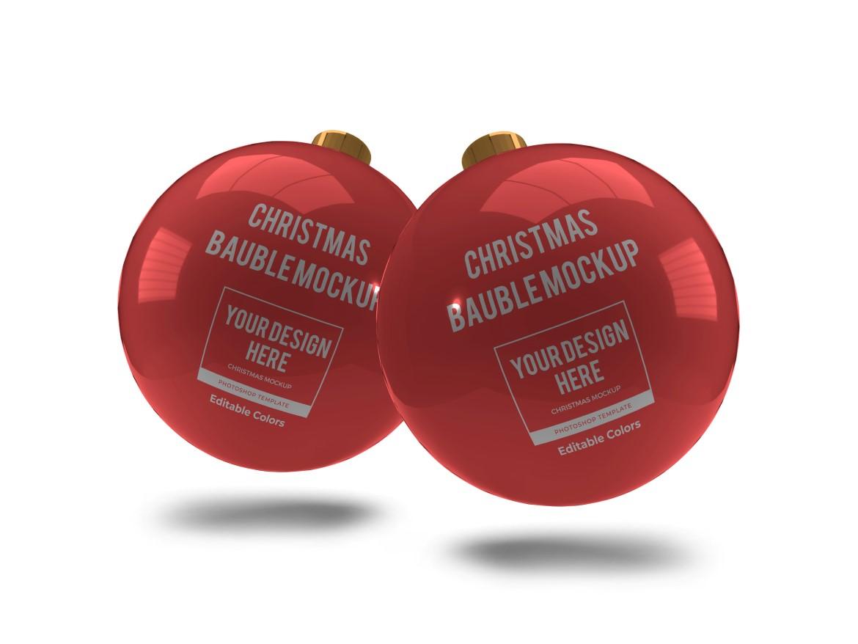Christmas Bauble Ball Mockup Bundle 2 - 09 8 -
